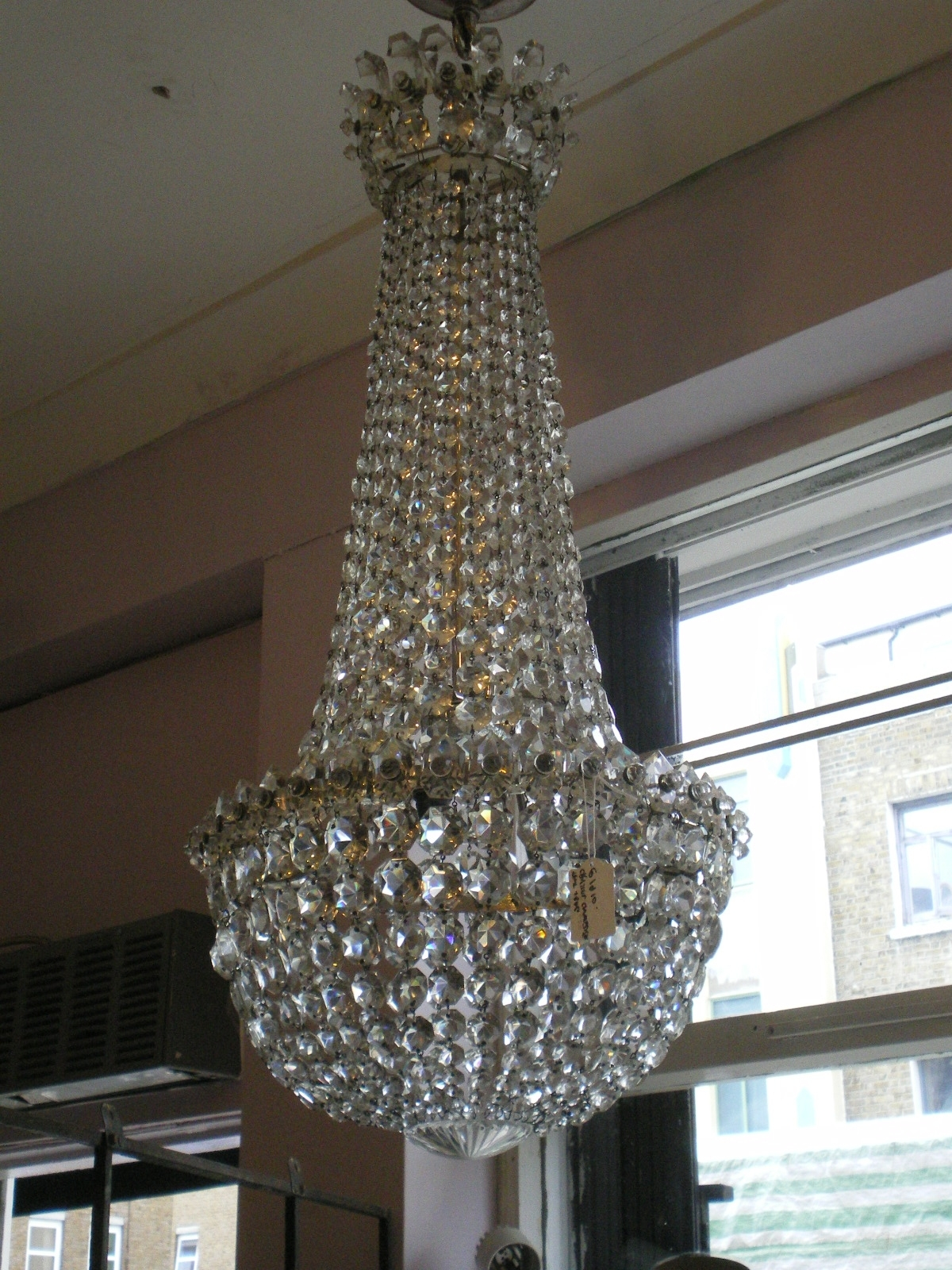 Edwardian Chandeliers Throughout Trendy Edwardian Crystal Chandelier, Possibly Waterford (View 4 of 15)