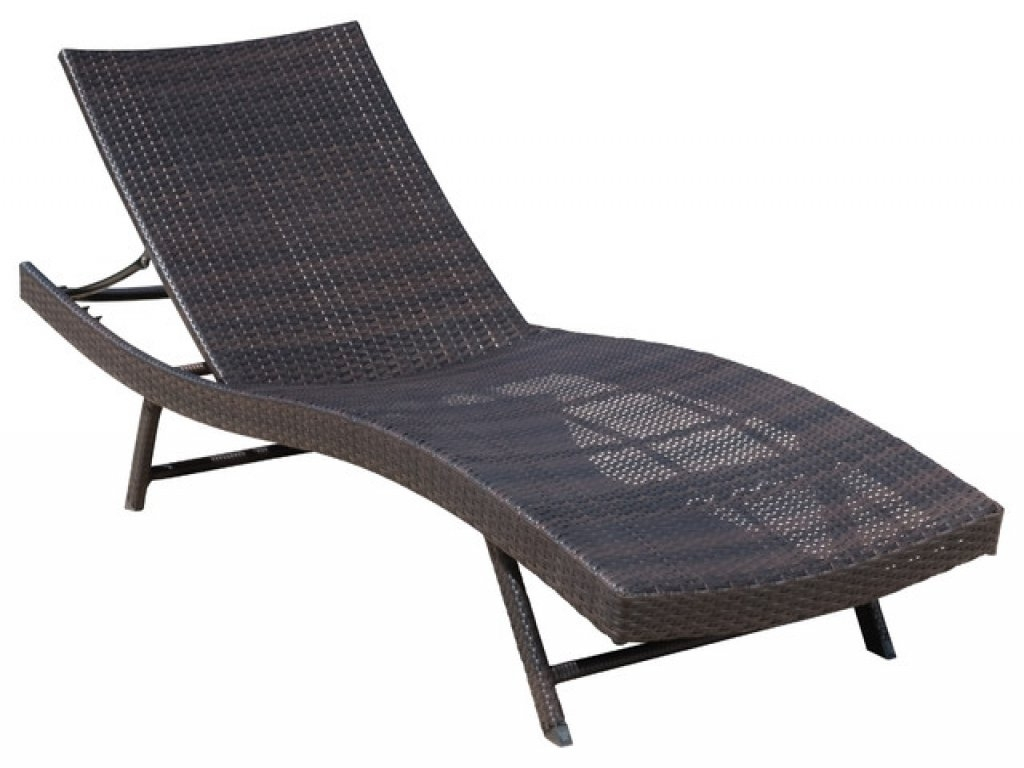 Eliana Outdoor Brown Wicker Chaise Lounge Chairs With Regard To Most Up To Date Brown Wicker Chaise Lounge Chair • Lounge Chairs Ideas (View 7 of 15)