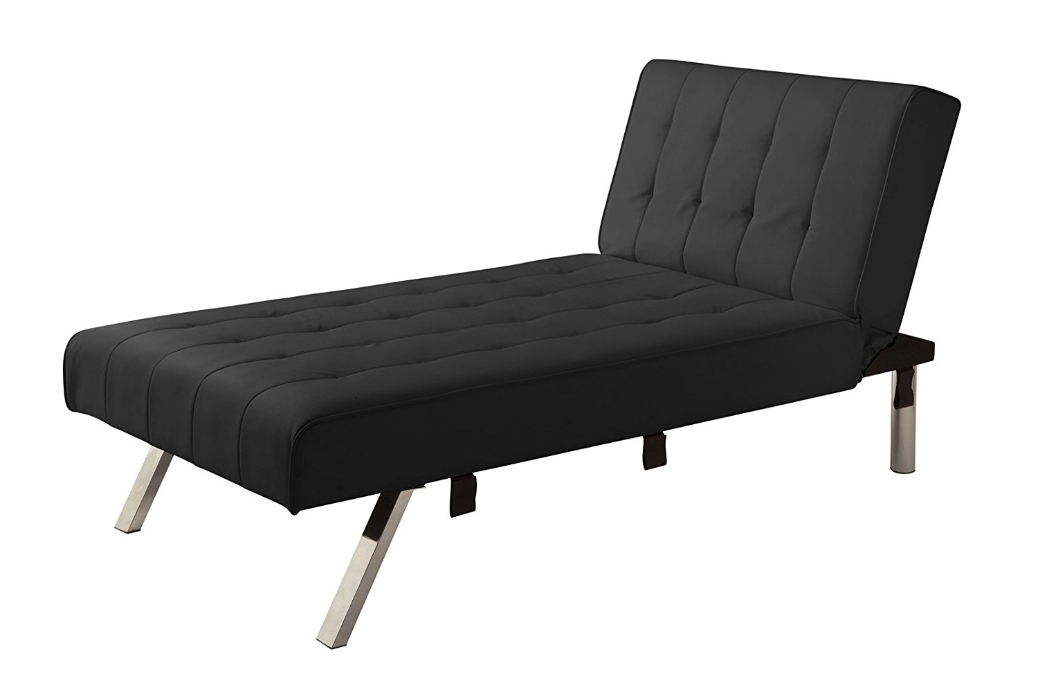 Emily Chaise Lounges Regarding Well Known Amazon: Dhp Emily Linen Chaise Lounger, Stylish Design With (View 7 of 15)