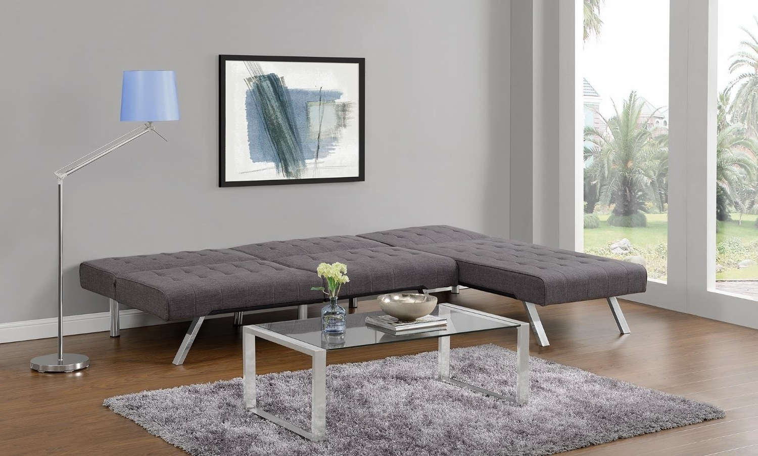 Emily Futon Chaise Loungers Pertaining To Preferred Dhp Emily Convertible Futon – Cksupply (View 14 of 15)