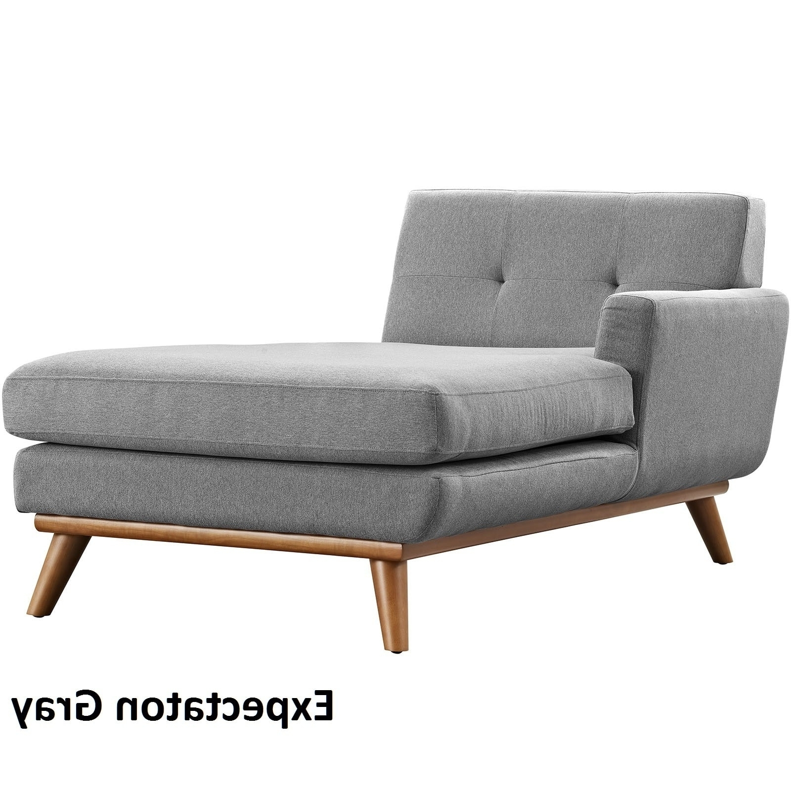 Engage Left Arm Mid Century Chaise Lounge – Free Shipping Today Intended For Most Popular Right Arm Chaise Lounges (View 2 of 15)