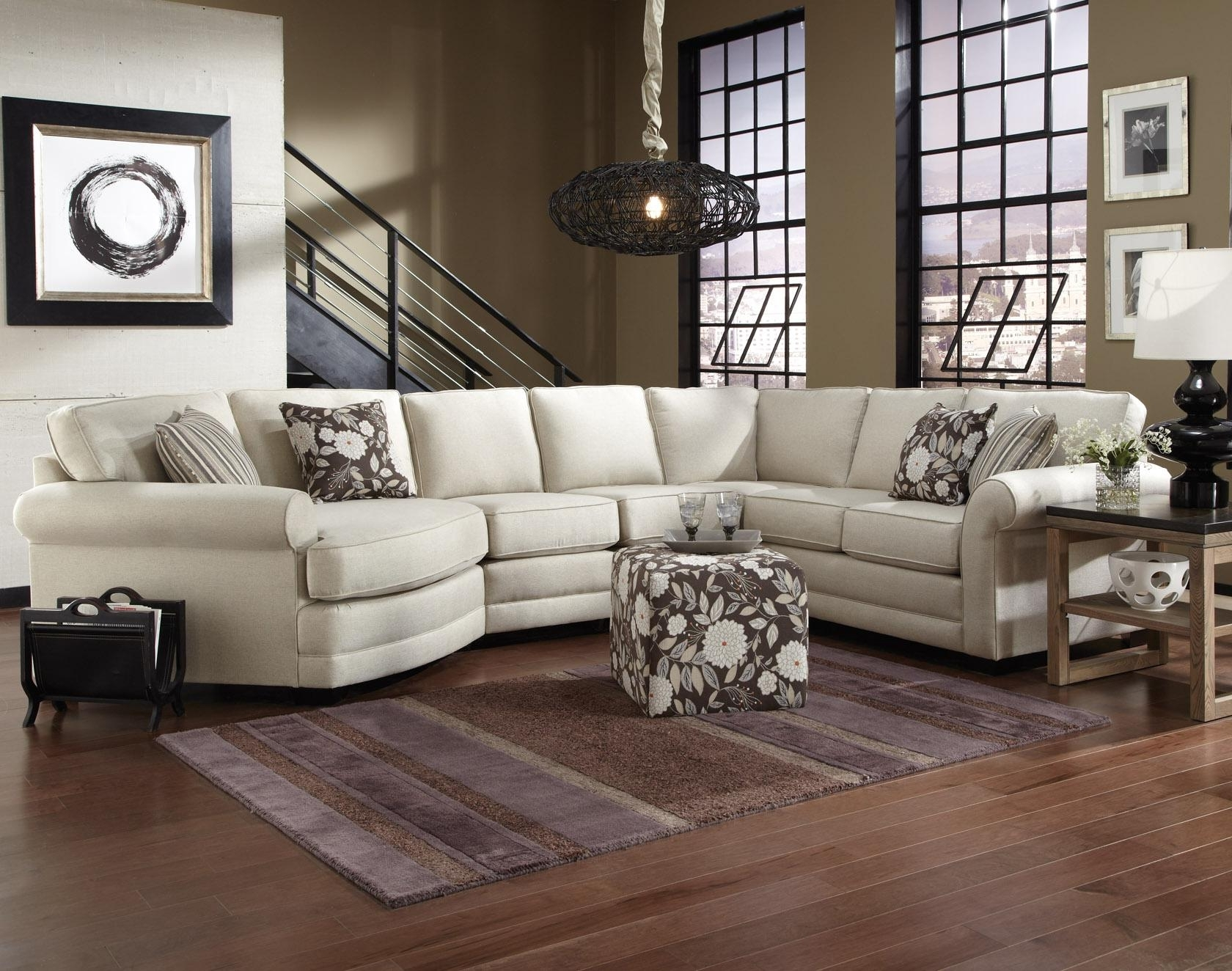 England Brantley 5 Seat Sectional Sofa With Cuddler – Ahfa – Sofa For Most Popular Little Rock Ar Sectional Sofas (View 14 of 15)