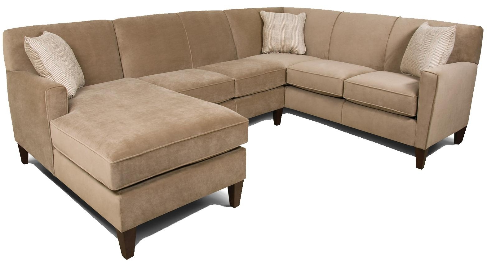 England Sectional Sofas Regarding 2017 England Collegedale Contemporary 3 Piece Sectional Sofa With Raf (View 9 of 15)