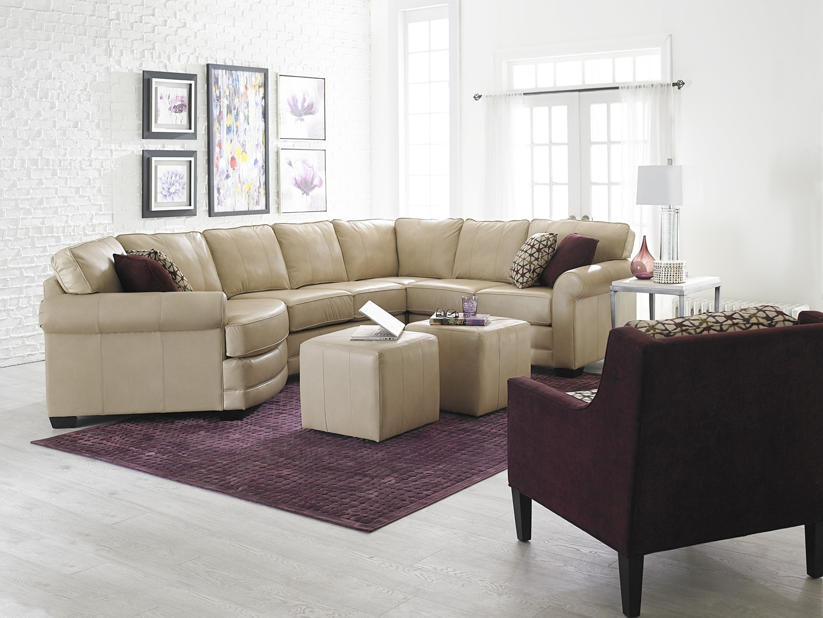 England Sectional Sofas Regarding Famous England Furniture Leather Sectional With Cuddler Seat (View 9 of 15)