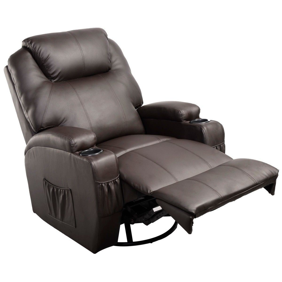 Ergonomic Heated Massage Recliner Sofa Chair With Regard To Ergonomic Sofas And Chairs (View 3 of 15)