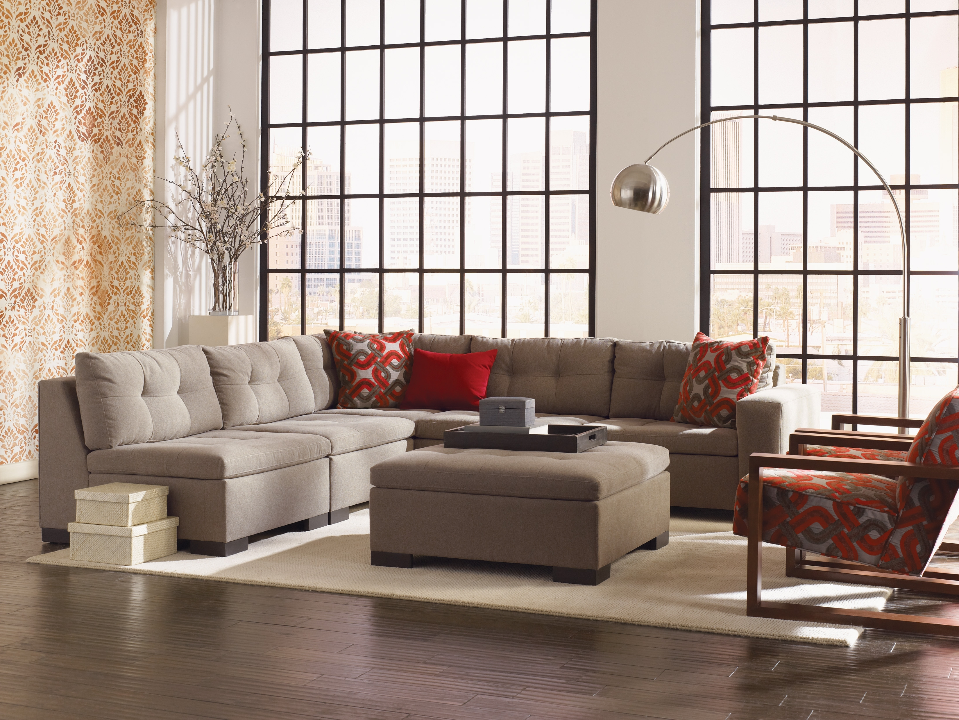 Esteban' Sectional In Multiple Configurations (View 8 of 15)