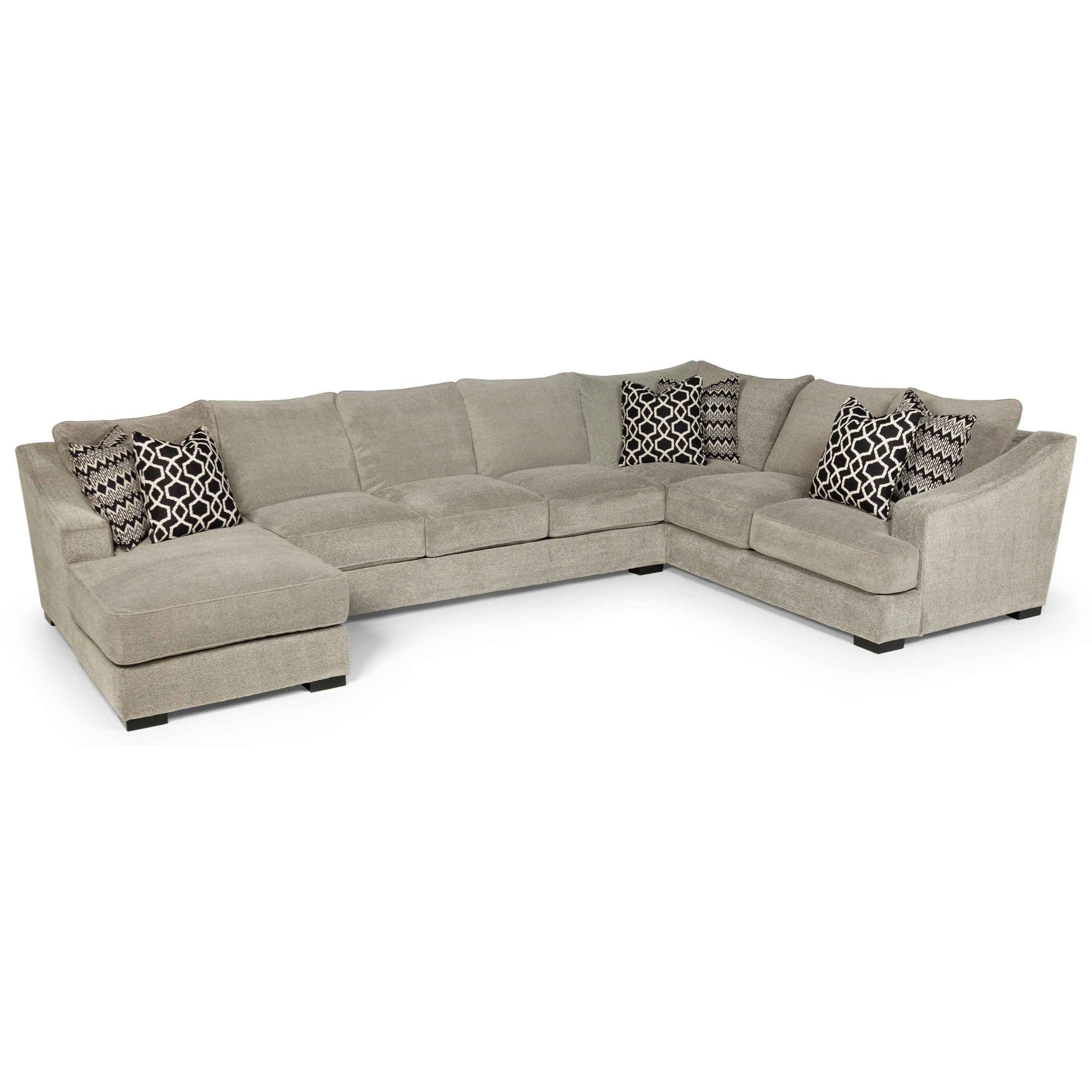 Eugene Oregon Sectional Sofas Intended For 2018 Stanton 338 Casual Three Piece Sectional Sofa With Deep Seats (View 5 of 15)