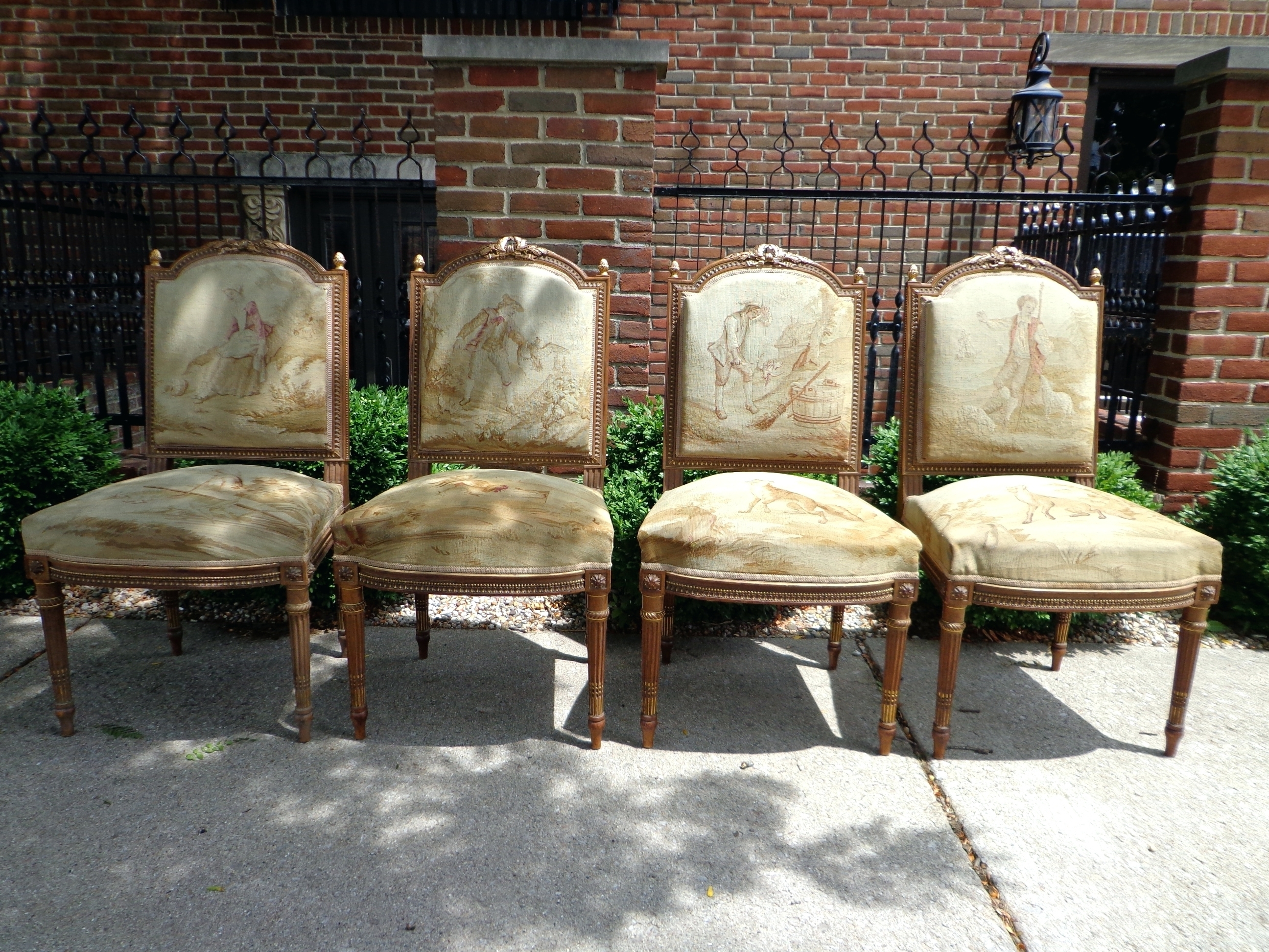 European Chaise Lounge Chairs Regarding Fashionable Antique French Aubusson Set Of Four Chairs European Style Lounge (View 5 of 15)