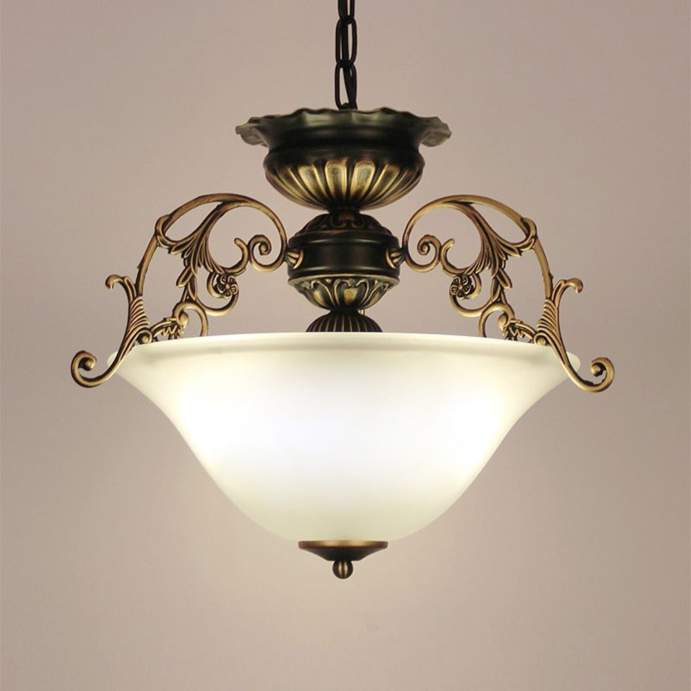 European Kitchen Glass Chain Chandelier Lighting Fixtures Dining Intended For Most Popular Chinese Chandelier (View 3 of 15)