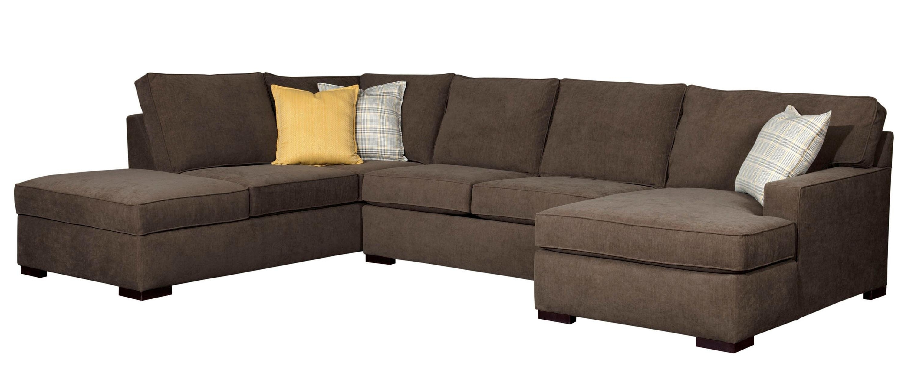 Evansville In Sectional Sofas Pertaining To Well Known Broyhill Furniture Raphael Contemporary Sectional Sofa With Laf (View 4 of 15)