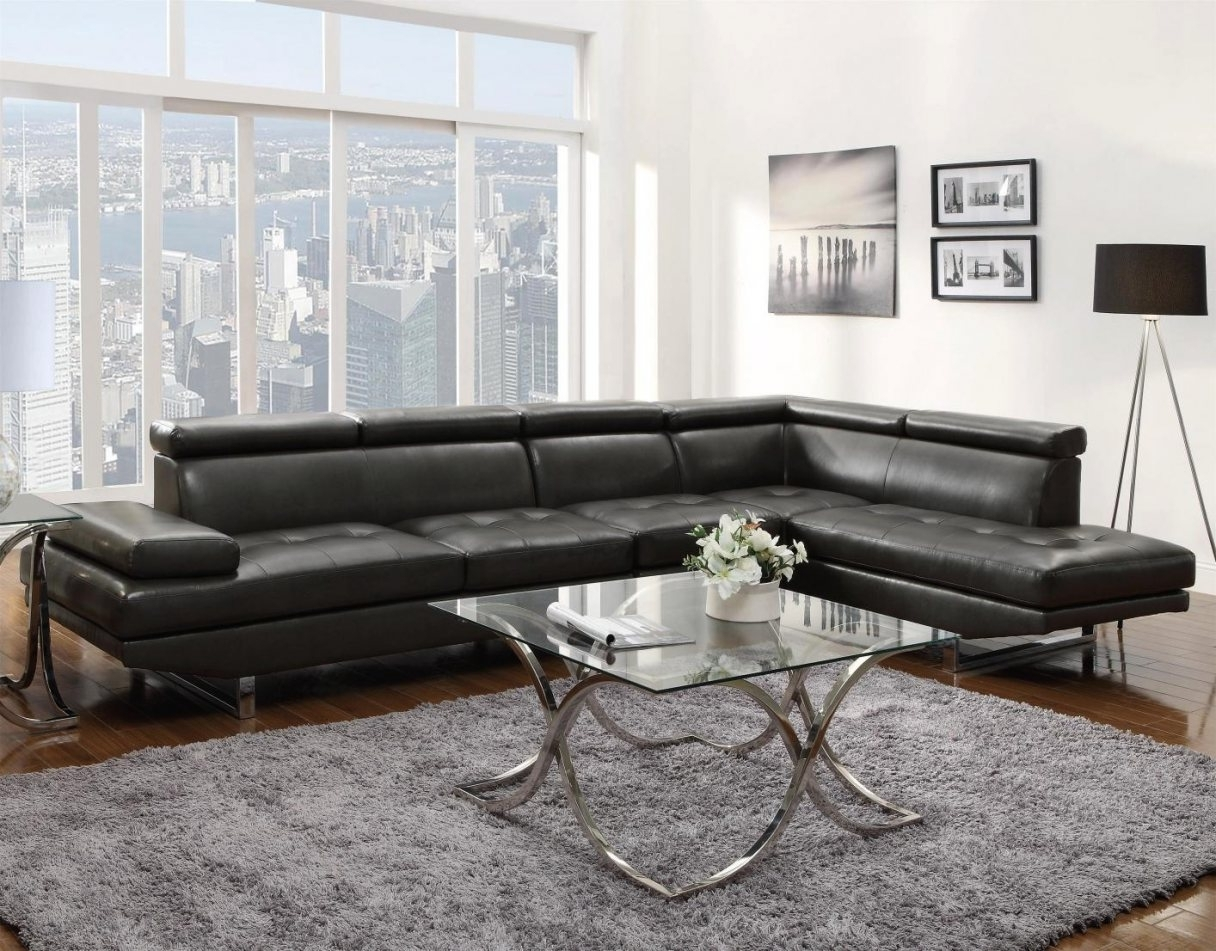 Exceptional Gray Leather Sectional Sofa #4 Grey Leather Sectional Intended For Latest Sectional Sofas At Buffalo Ny (View 4 of 15)