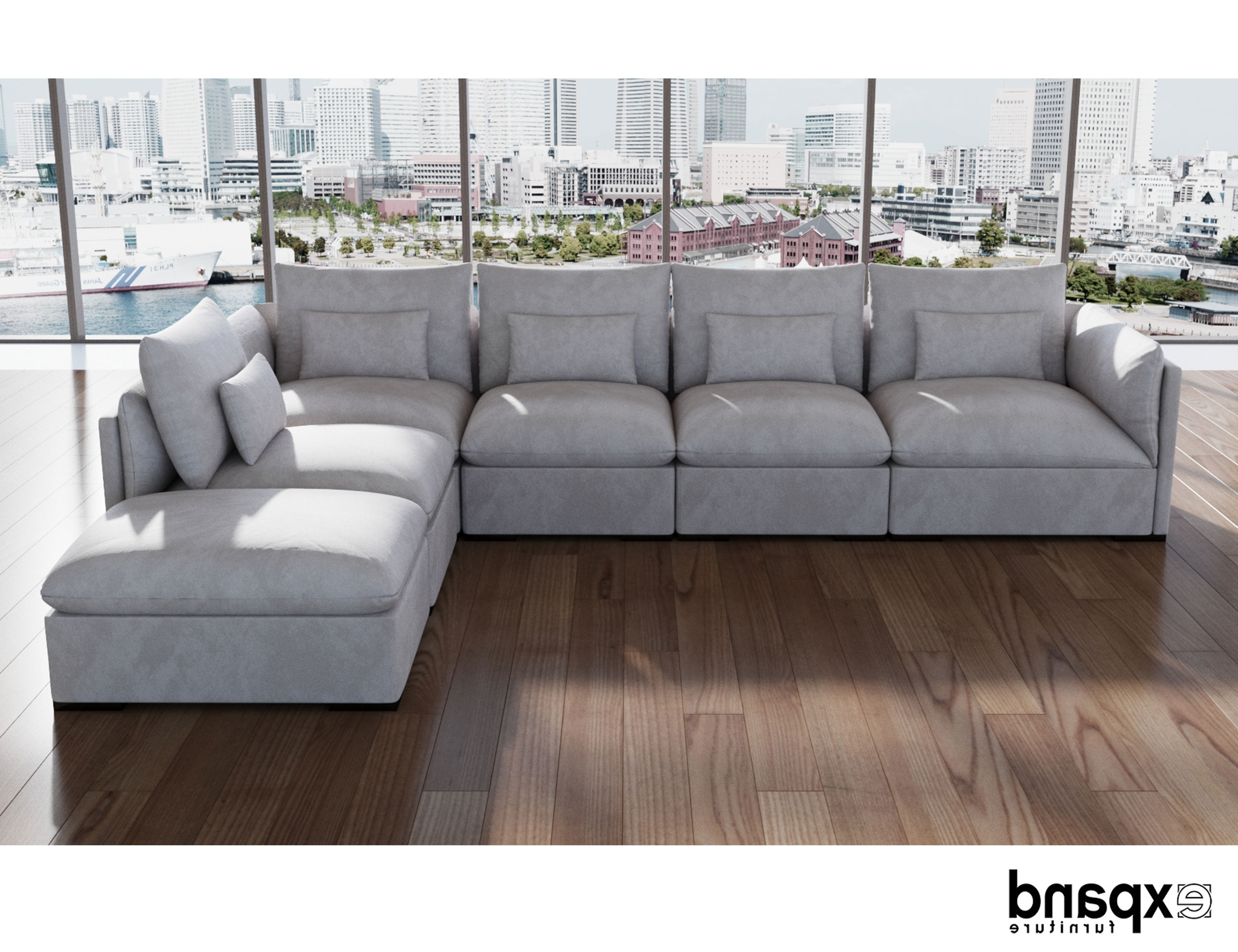Expand Furniture Intended For Trendy Down Feather Sectional Sofas (View 7 of 15)