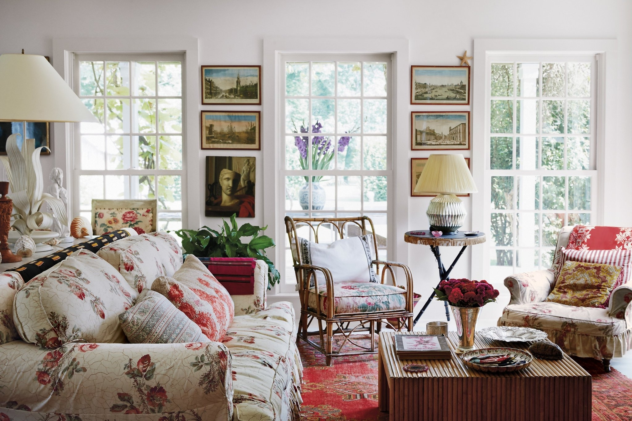 Exquisite Pleasures – The Living Room, With A Sofa And Armchairs With Preferred Chintz Sofas (View 7 of 15)