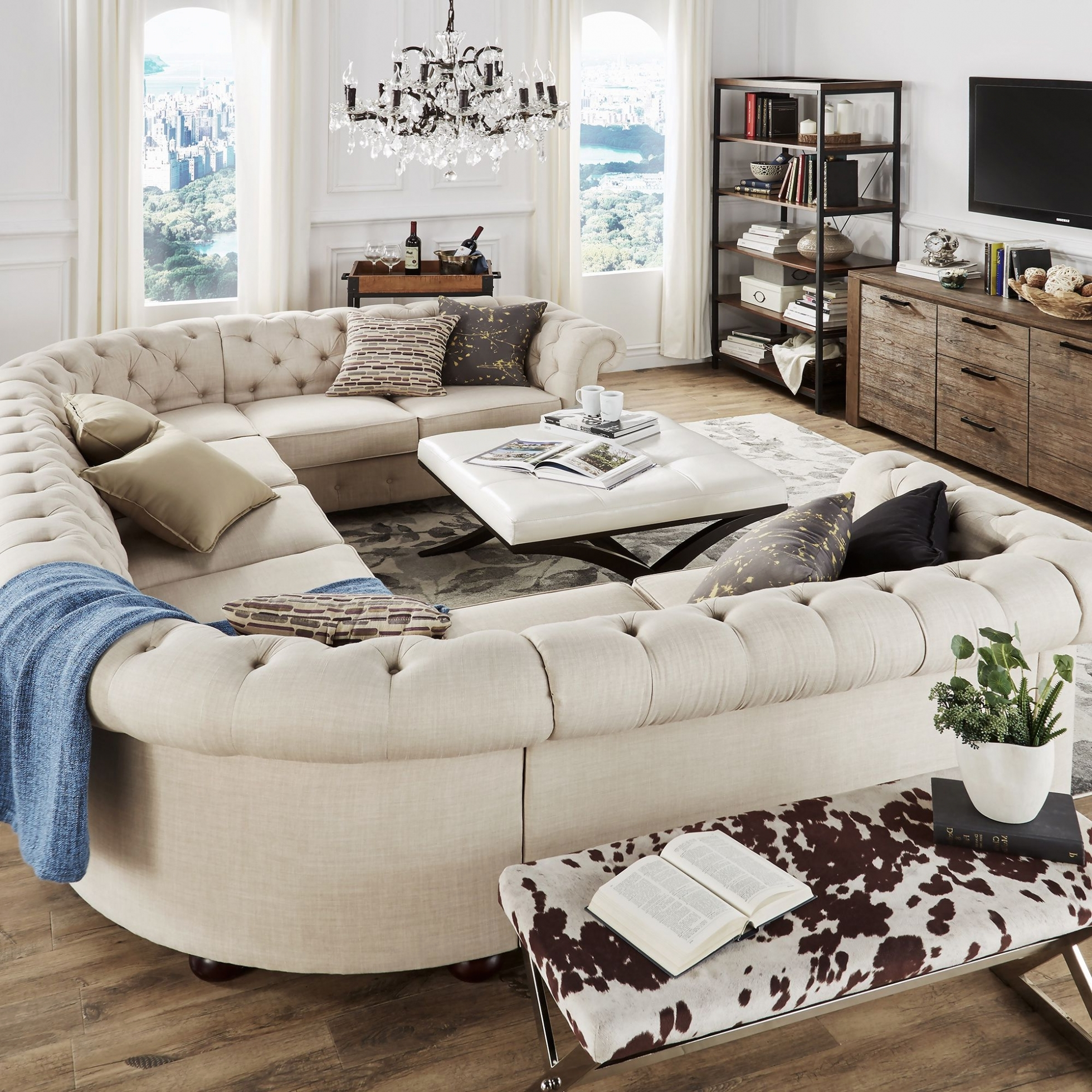 Extra Large Sectional Sofas Regarding 2017 Furniture: Furniture: Oversized Couch (View 11 of 15)