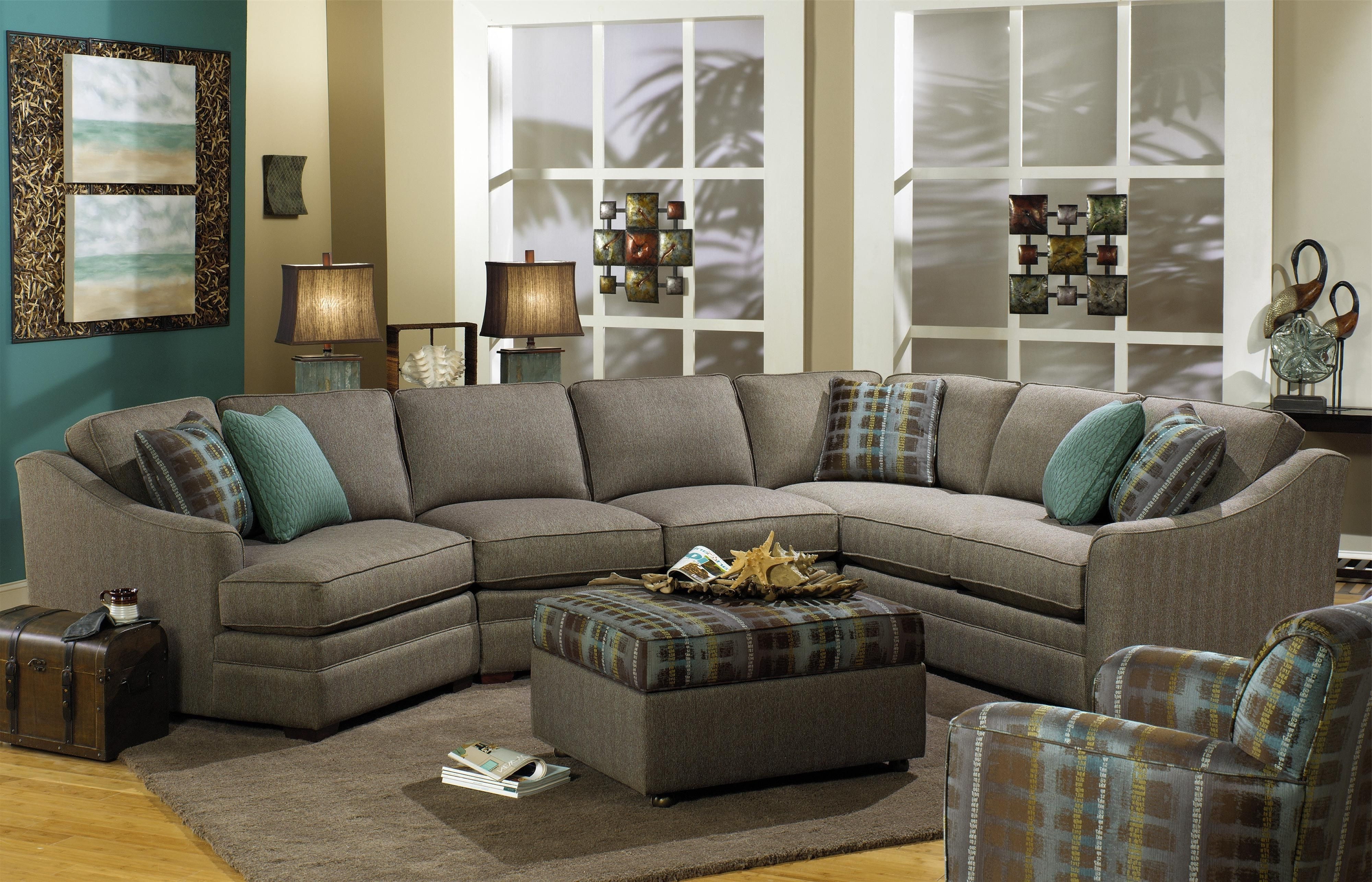 F9 Custom Collection Customizable 3 Piece Sectional With Laf In Preferred Pensacola Fl Sectional Sofas (View 7 of 15)