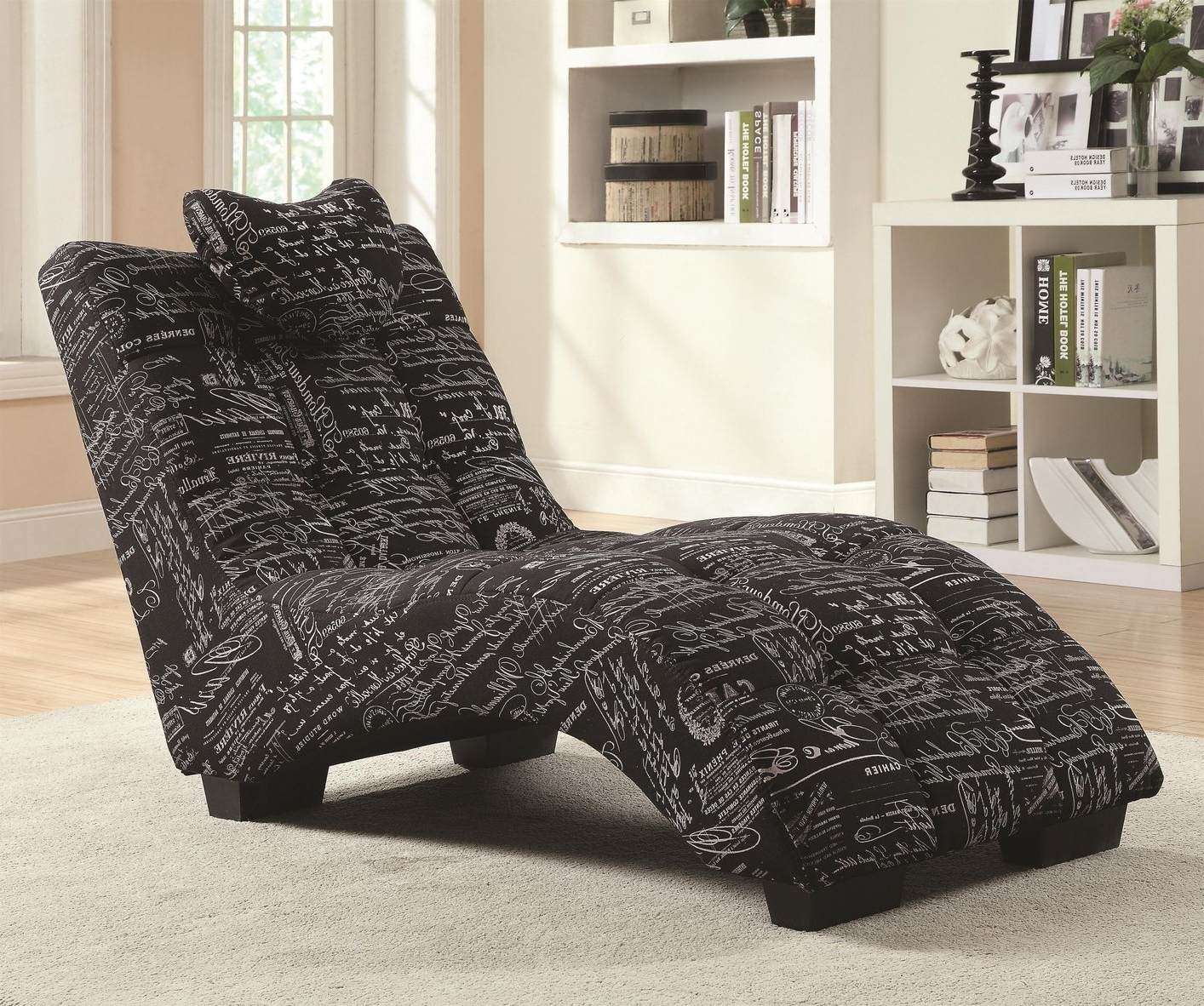 Fabric Chaise Lounge Chairs Within Most Popular Black Fabric Chaise Lounge – Steal A Sofa Furniture Outlet Los (View 3 of 15)