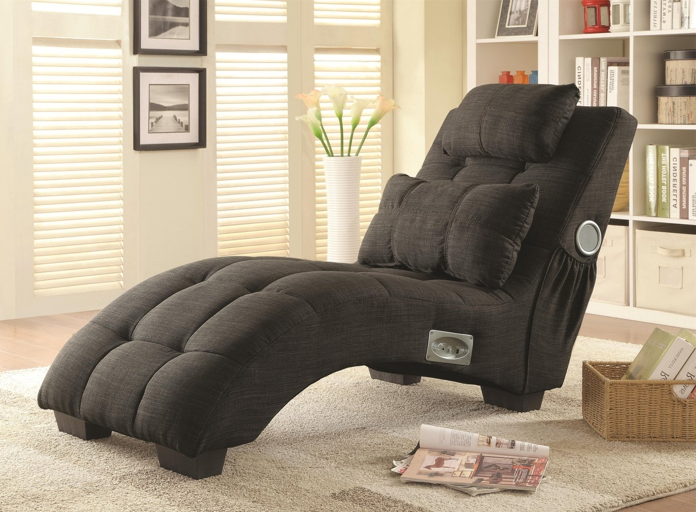 Fabric Chaise Lounges With Regard To 2018 Grey Fabric Chaise Lounge – Steal A Sofa Furniture Outlet Los (View 2 of 15)