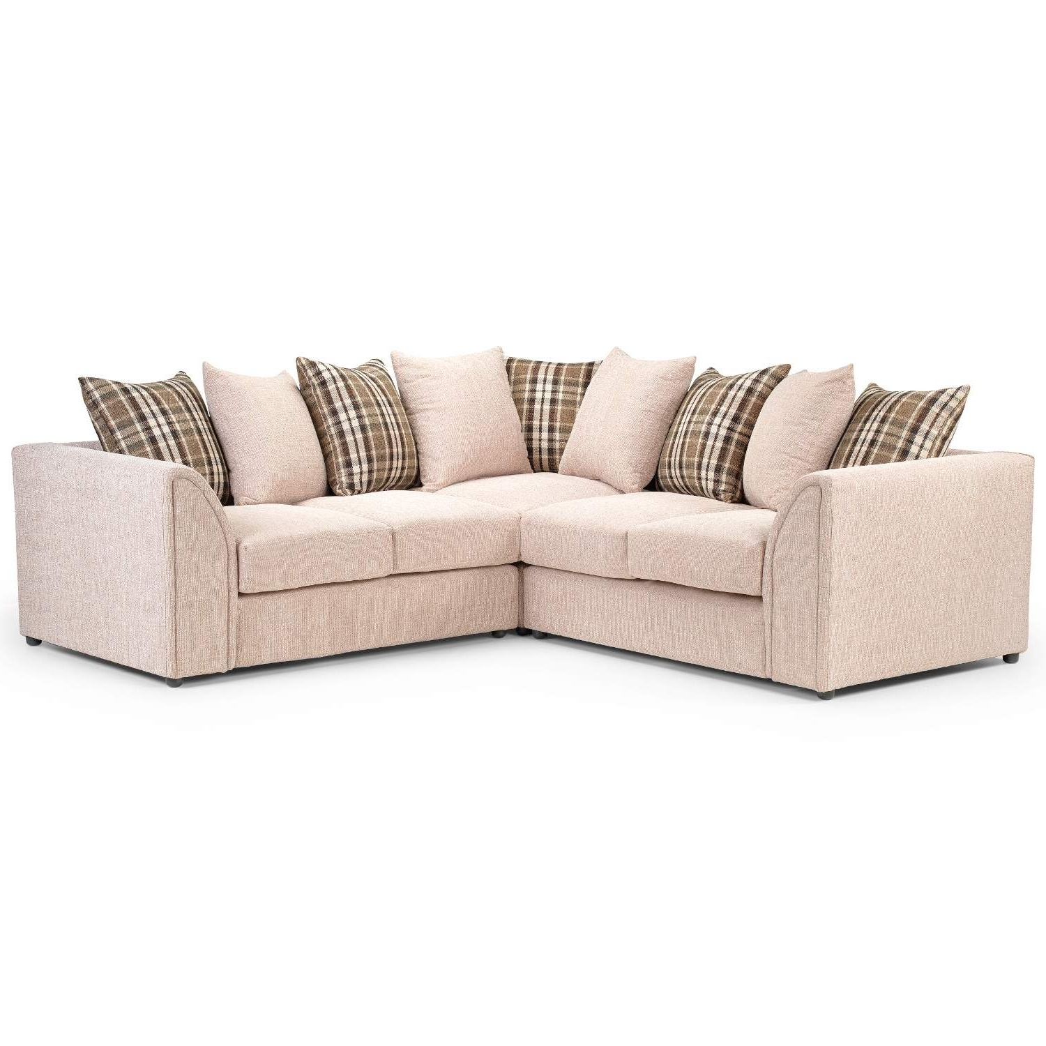 Fabric Corner Sofas Throughout Recent Nevada Large Fabric Corner Sofa – Next Day Delivery Nevada Large (View 3 of 15)