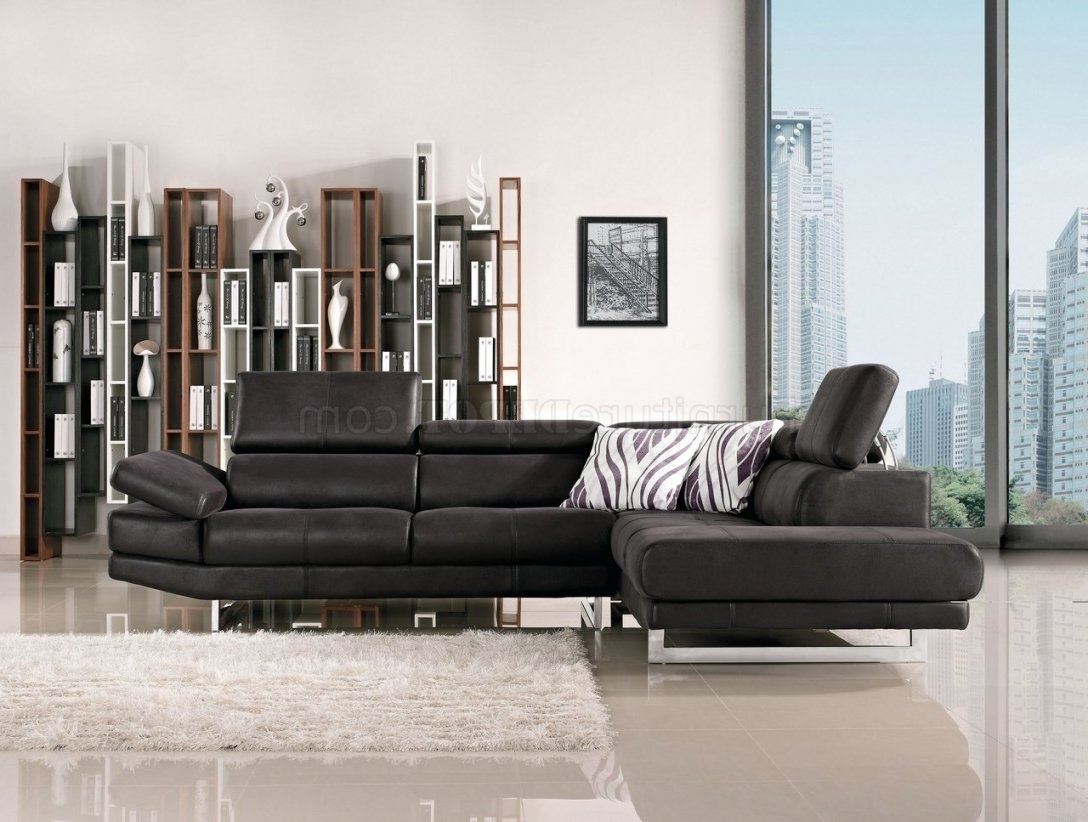 Fabric Modern Sectional Sofa W/adjustable Headrest Throughout Within Latest Nyc Sectional Sofas (View 5 of 15)