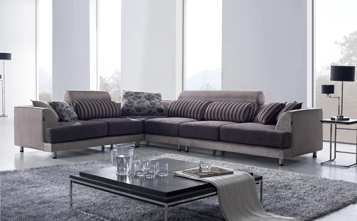 Fabric Sectional Sofas With Most Recent Fancy Fabric Sectional Sofa 38 Office Sofa Ideas With Fabric (View 7 of 15)