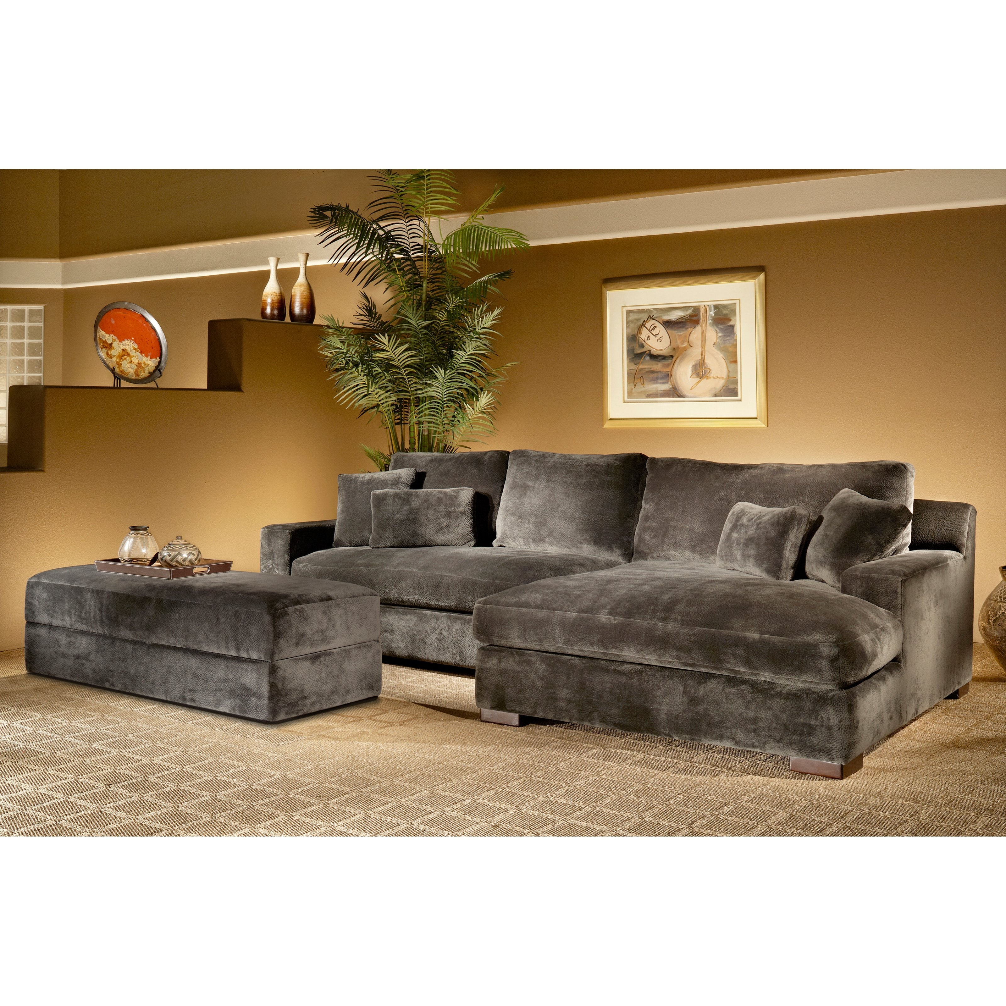 Fairmont Designs Doris 2 Piece Sectional Sofa With Storage Ottoman With Regard To Well Known Sectional Sofas With Storage (View 12 of 15)