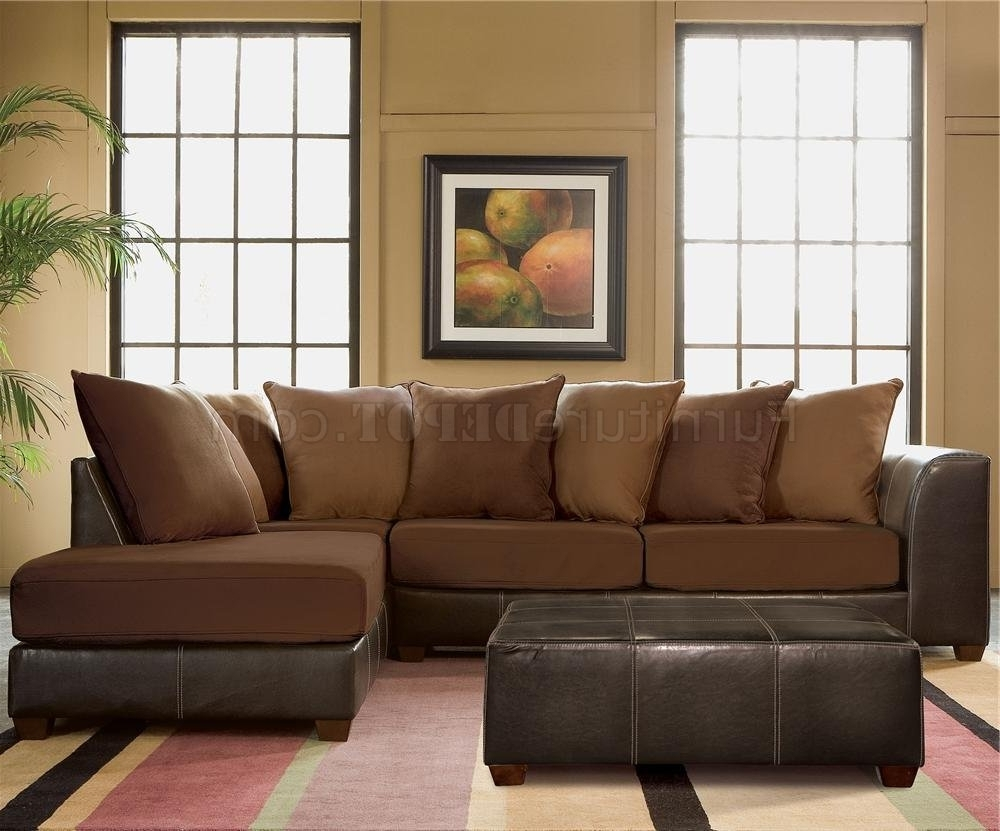 Famous 10X8 Sectional Sofas Regarding Microsuede Sectional Sofa – Home Design Ideas And Pictures (View 11 of 15)