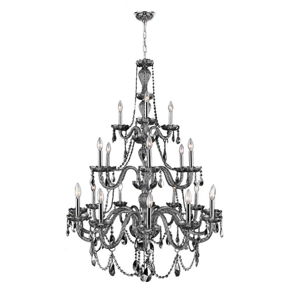 Famous 3 Tier Crystal Chandelier For Chandeliers : Weinstock Lighting 5H Light Tier Crystal Chandelier (View 14 of 15)