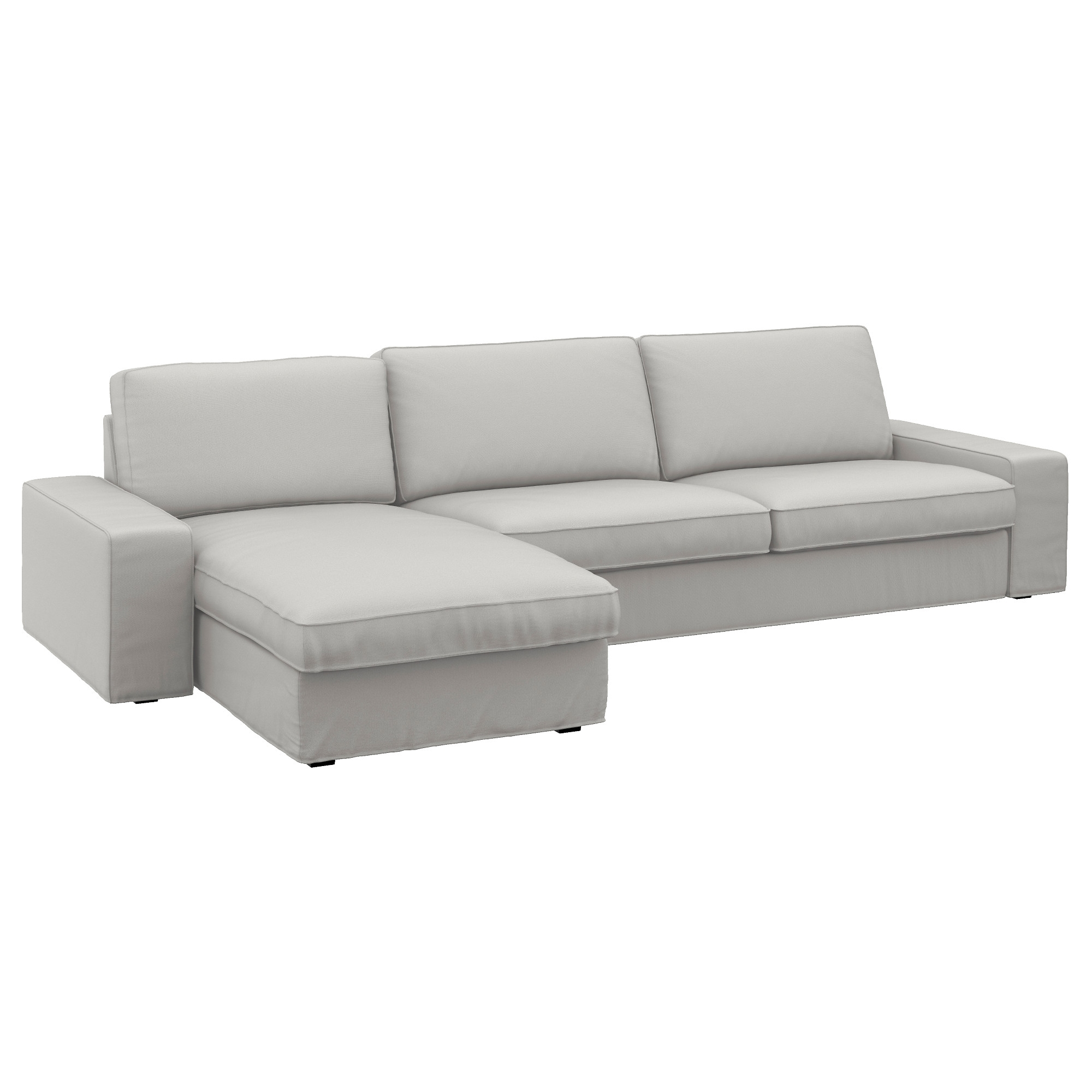 Famous 4 Seat Sofas With Kivik 4 Seat Sofa With Chaise Longue/ramna Light Grey – Ikea (View 7 of 15)