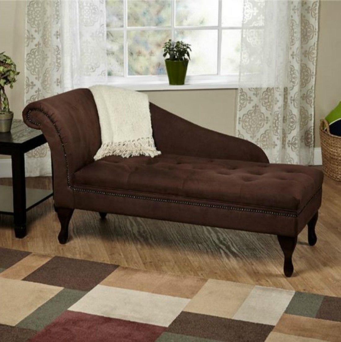Famous Amazon: Modern Storage Chaise Lounge Chair – This Tufted With Chaise Lounge Chairs With Storage (View 8 of 15)