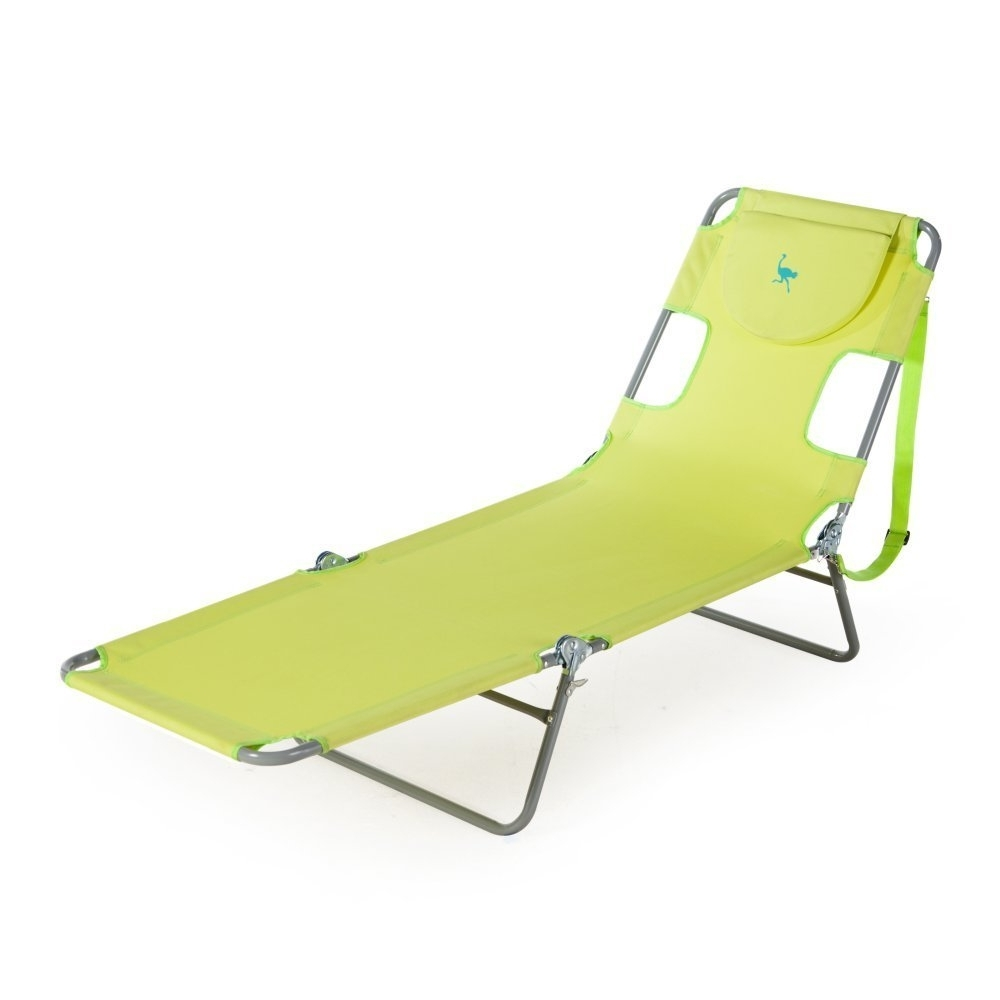 Famous Amazon: Ostrich Chaise Lounge, Green: Garden & Outdoor Within Ostrich Chair Folding Chaise Lounges (View 2 of 15)