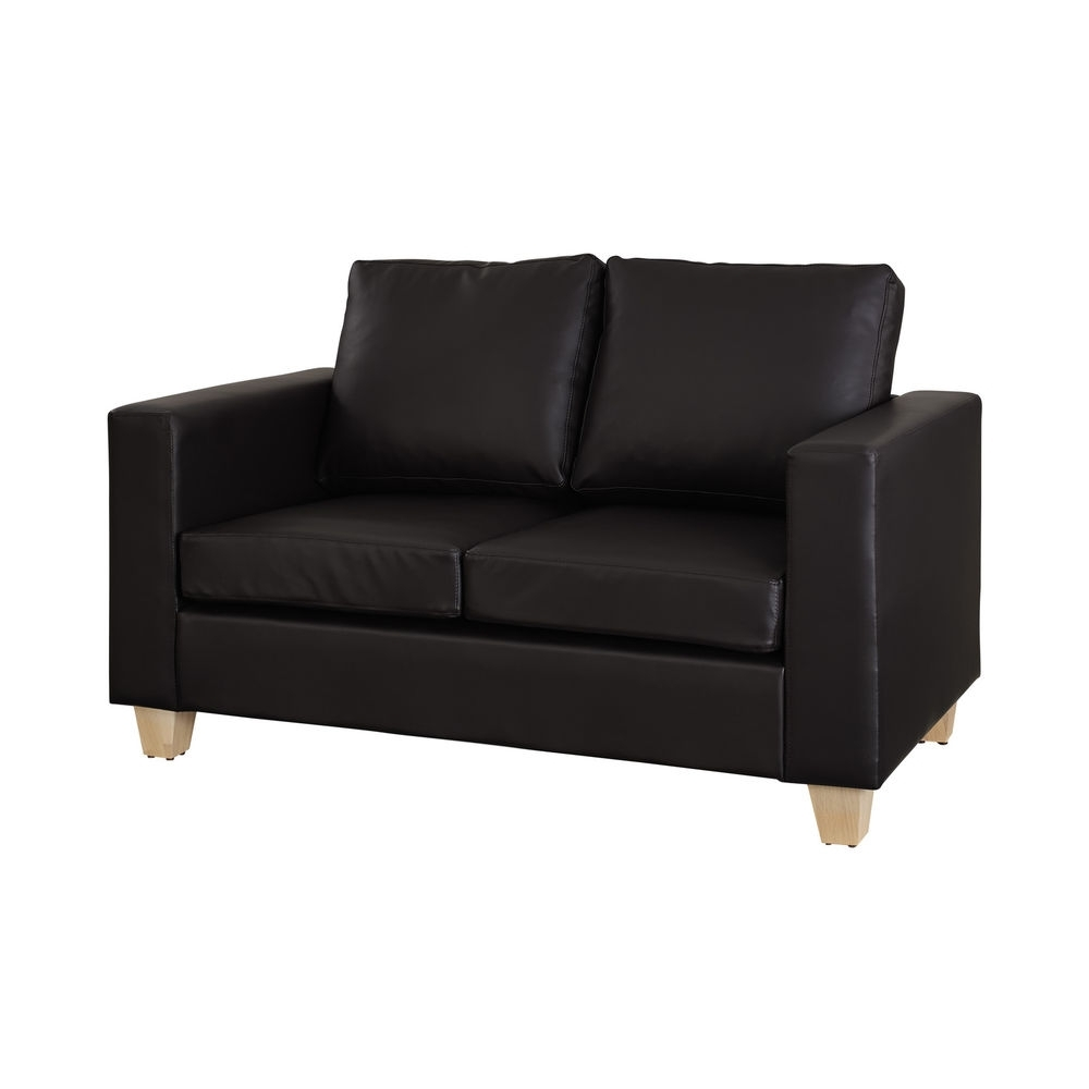 Famous Black 2 Seater Sofas Intended For 2 Seater Leather Sofa For Trendy, Smart Living Rooms (View 4 of 15)