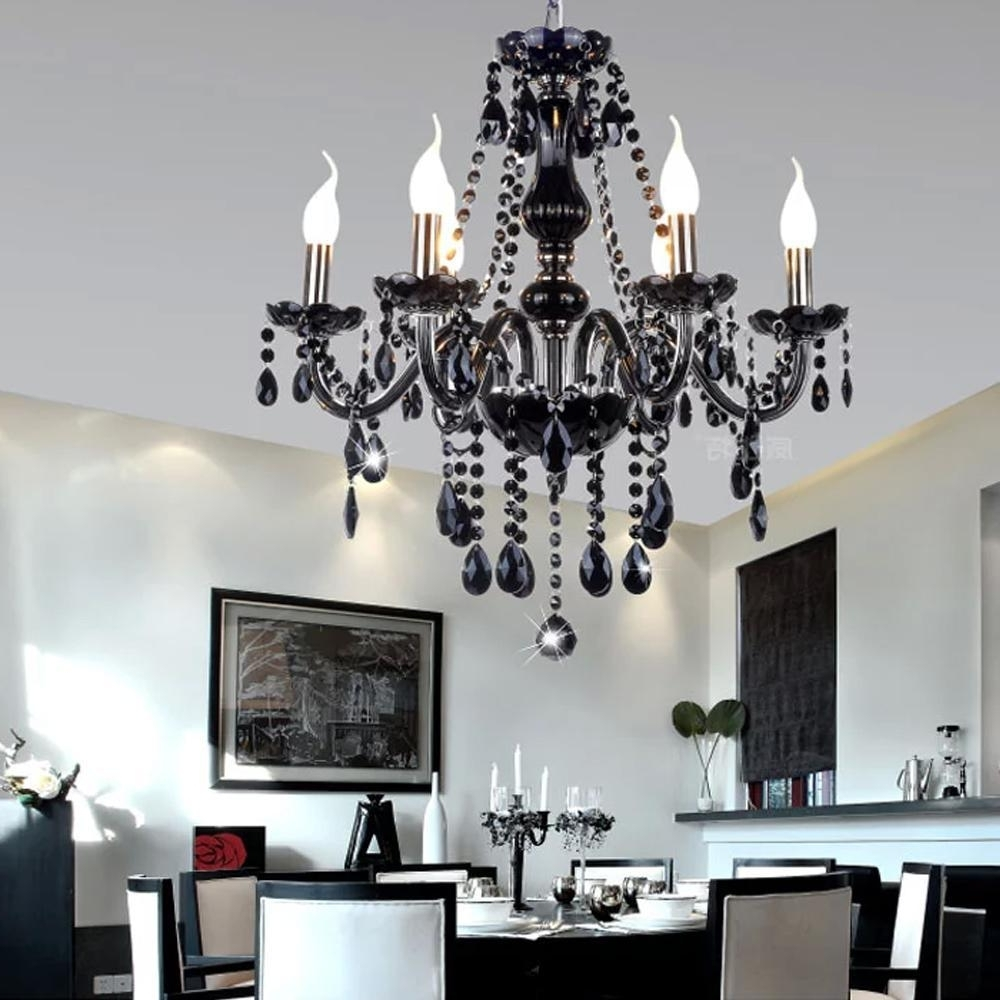 Famous Black Contemporary Chandelier In Chandelier (View 6 of 15)