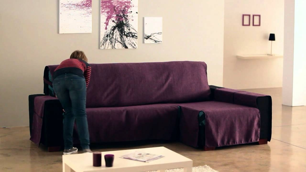Famous Chaise Lounge Sofa Covers Pertaining To How To Install A Chaise Longue Cover – Youtube (View 8 of 15)