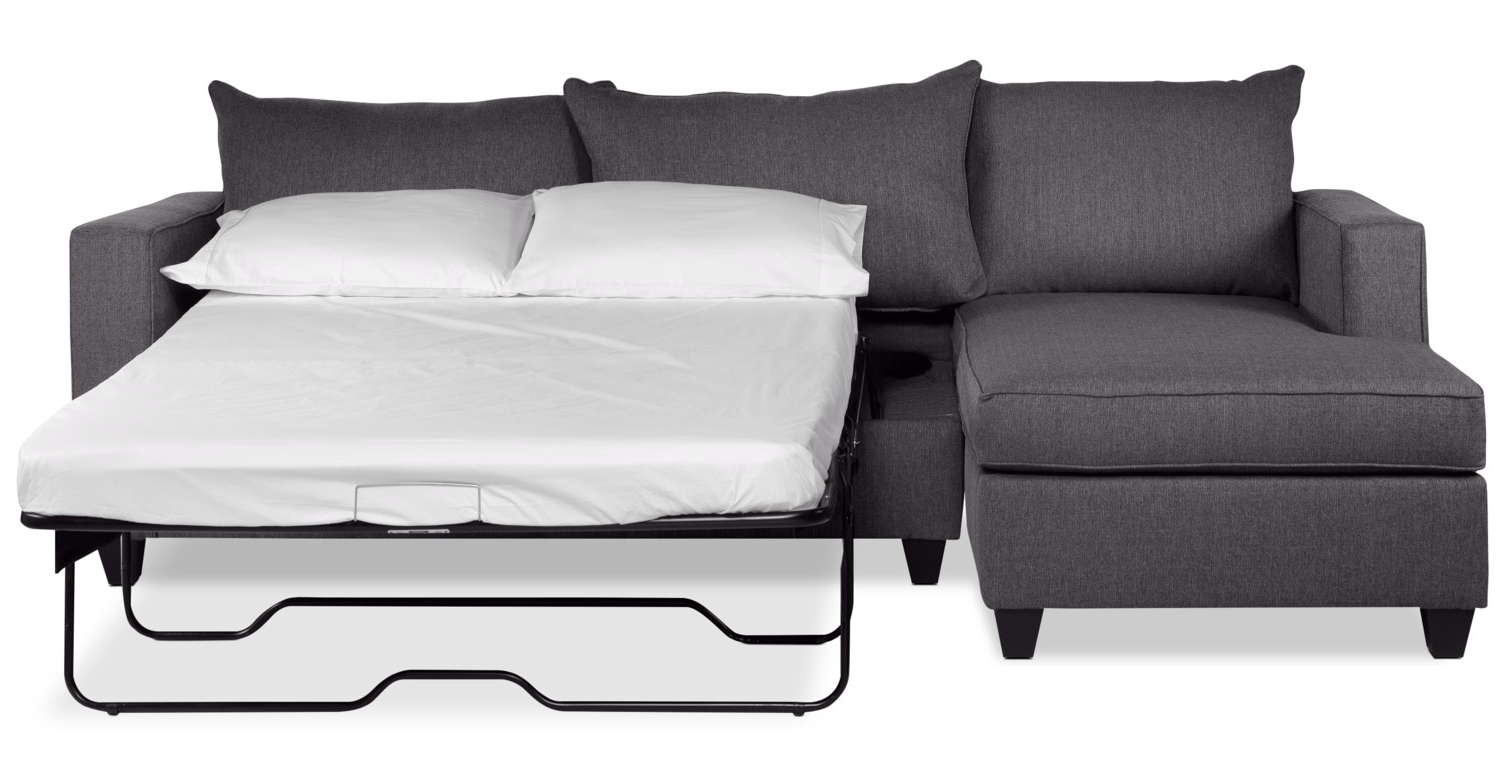 Famous Chaise Sofa Beds Intended For Halley 2 Piece Full Sofa Bed Sectional With Left Facing Chaise (View 9 of 15)