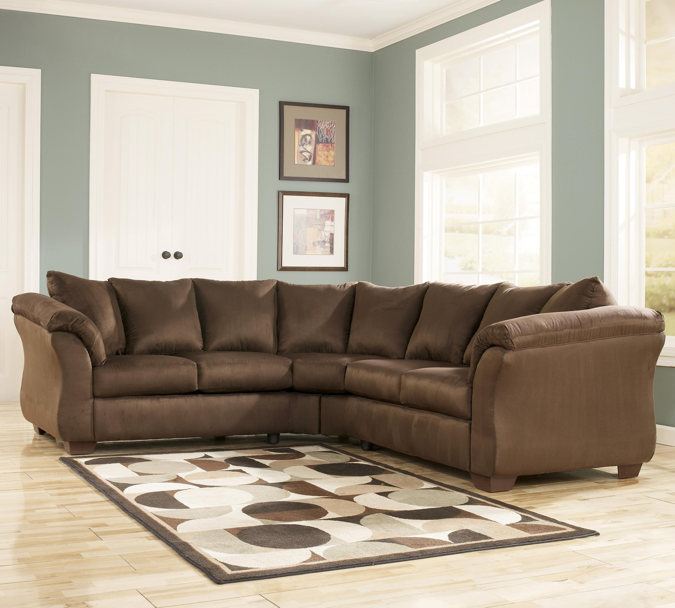 Famous Contemporary Sectional Sofa With Sweeping Pillow Armssignature Intended For Nashville Sectional Sofas (View 4 of 15)
