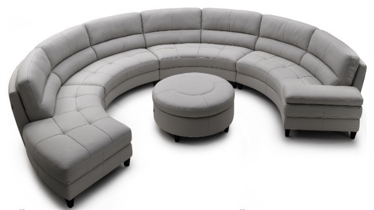 Famous Contemporary Sofas, Half Round Sectional Sofa Half Circle Shaped Within Circle Sofas (View 9 of 15)