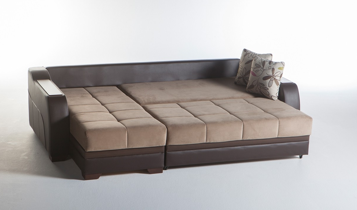 Famous Convertible Sectional Sofas Throughout Ultra Convertible Sectional Sofa In Lilyum Vizonistikbal (View 14 of 15)