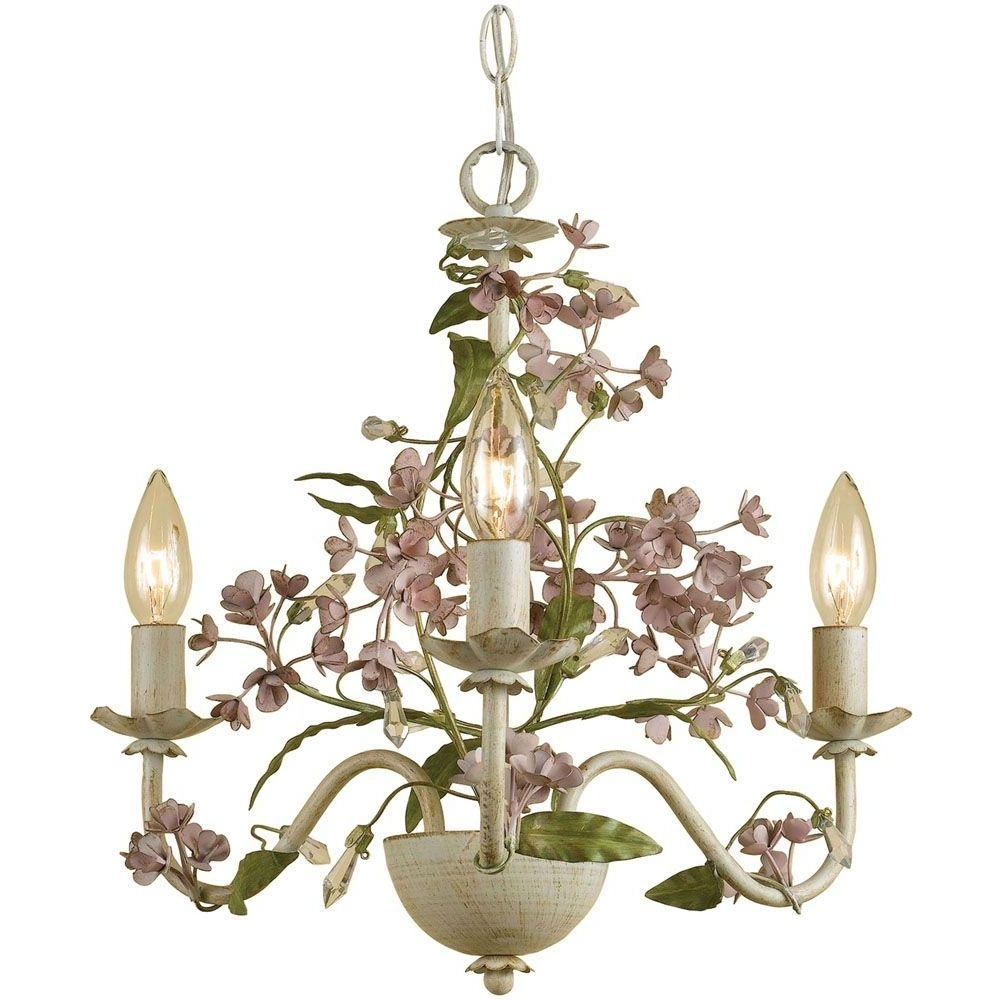 Famous Cream Chandeliers Within Af Lighting Grace 3 Light Antique Cream Mini Chandelier 7044 3H (View 13 of 15)