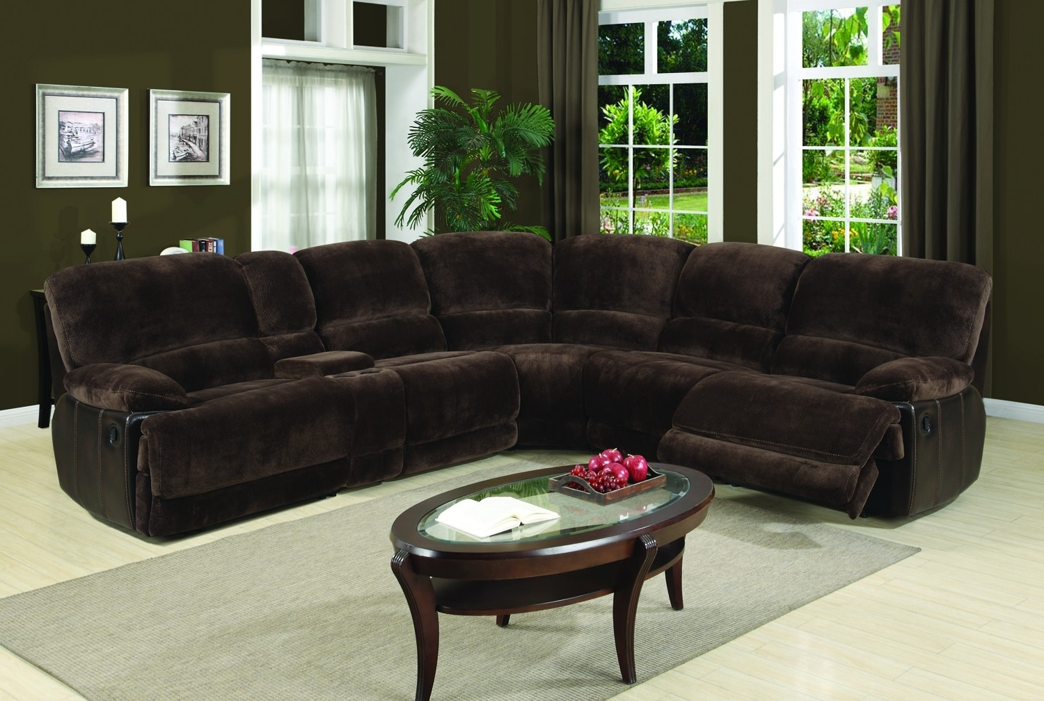 Famous Eli Dark Brown 6 Piece Sectional Sofa For $1, (View 8 of 15)