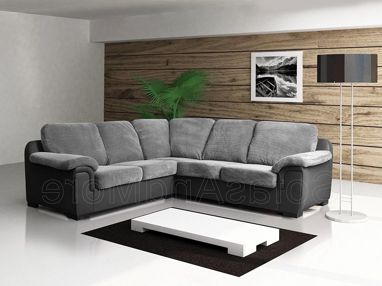 Famous Fabric Corner Sofas With Brand New – Corner Sofa – Amy – Grey – Fabric: Amazon.co (View 5 of 15)