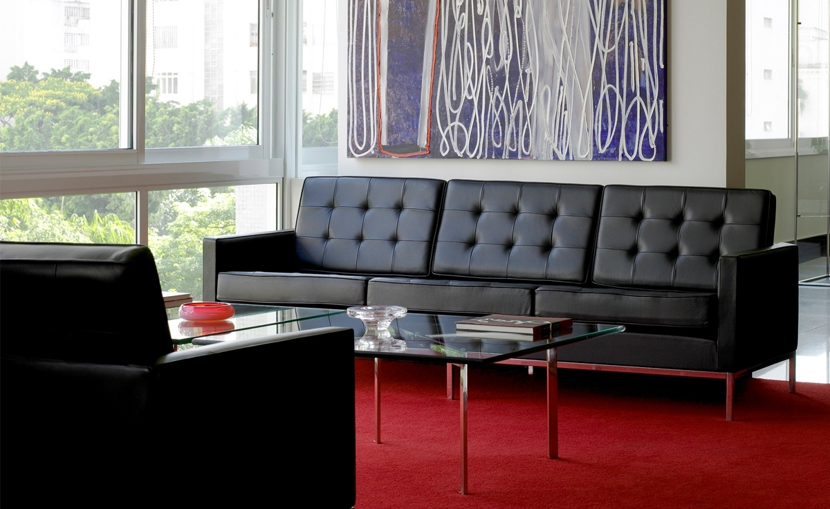 Famous Florence Knoll 3 Seater Sofas Regarding Florence Knoll 3 Seat Sofa – Hivemodern (View 10 of 15)