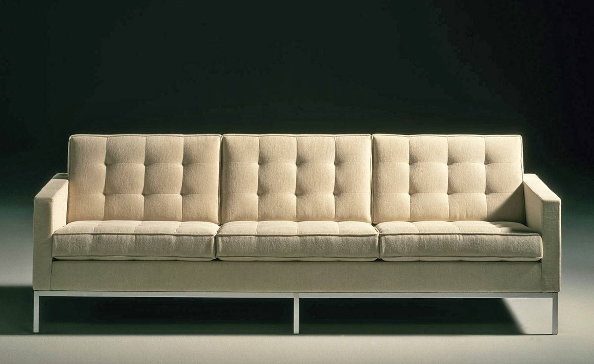Famous Florence Leather Sofas In Florence Knoll 3 Seat Sofa – Hivemodern (View 2 of 15)