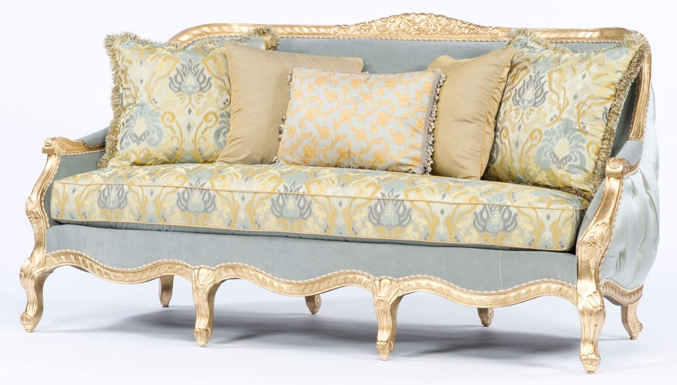 Famous French Style Sofa. Tufted Luxury Furniture (View 1 of 15)