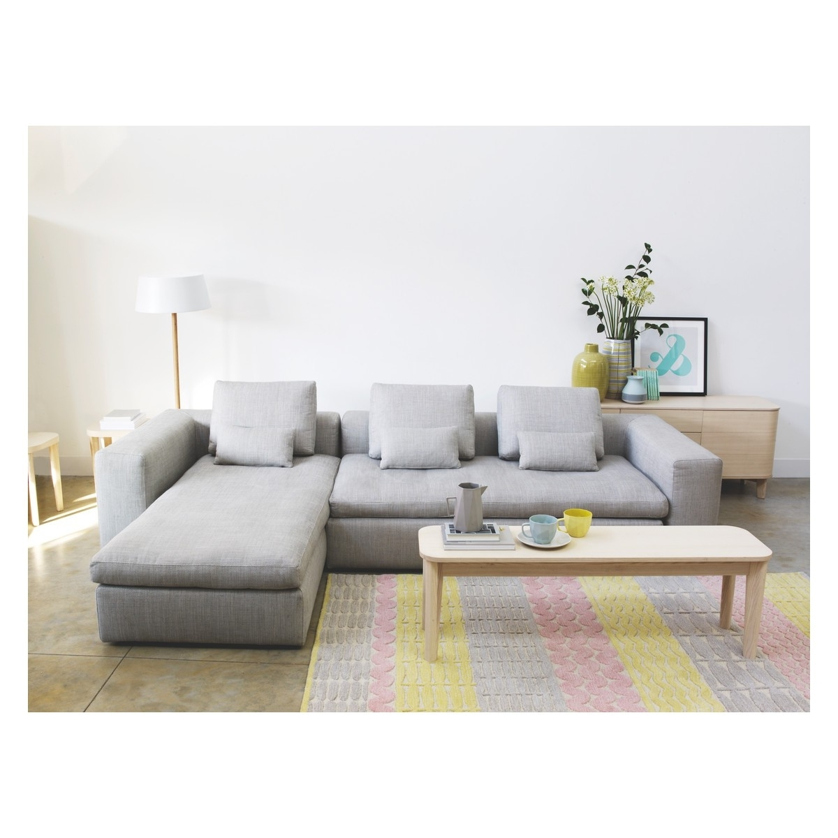 Famous Grey Chaise Sofas Intended For Sofas: Classic Meets Contemporary Chaise Sofa Bed For Ideal Living (View 15 of 15)