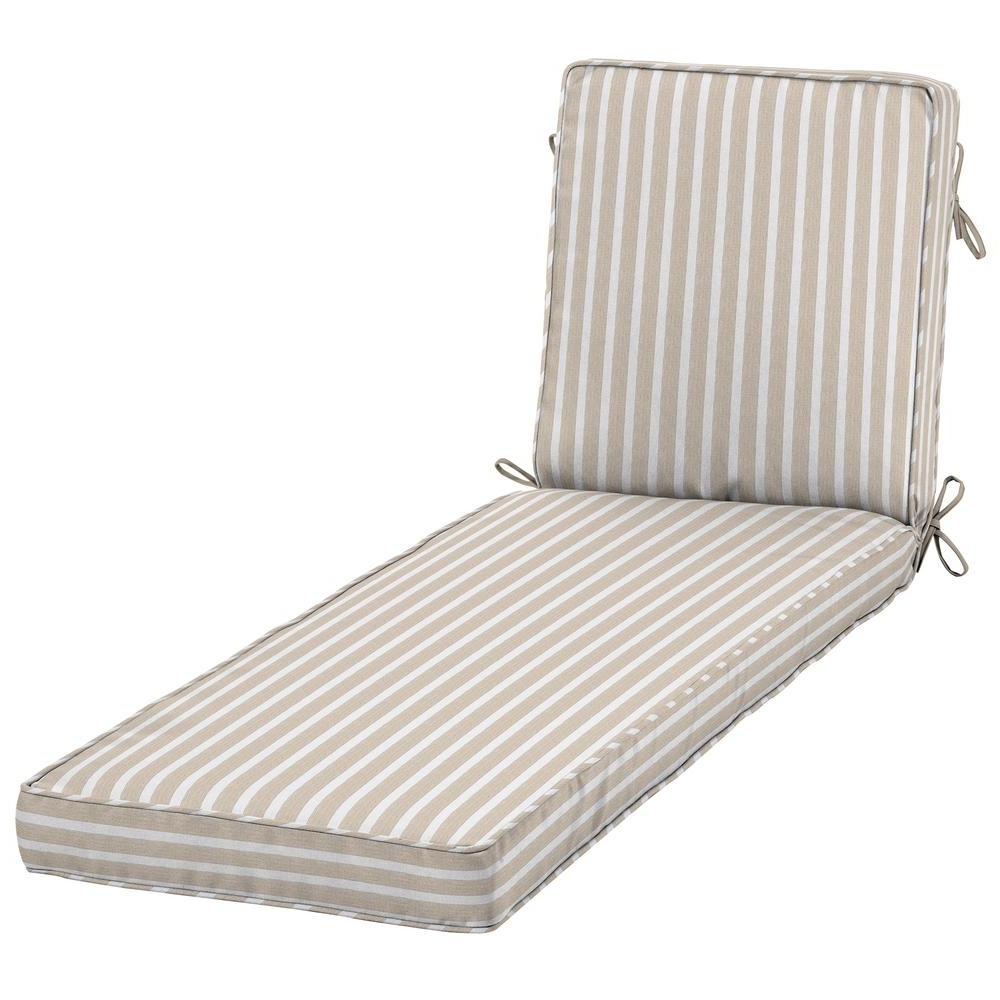 Famous Home Decorators Collection Sunbrella Shore Linen Outdoor Chaise Intended For Sunbrella Chaise Cushions (View 1 of 15)