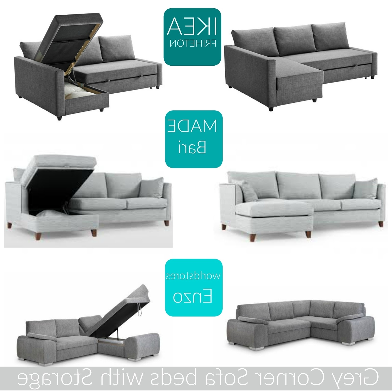 Famous Home: The Best Grey Corner Sofa Beds With Storage (View 10 of 15)