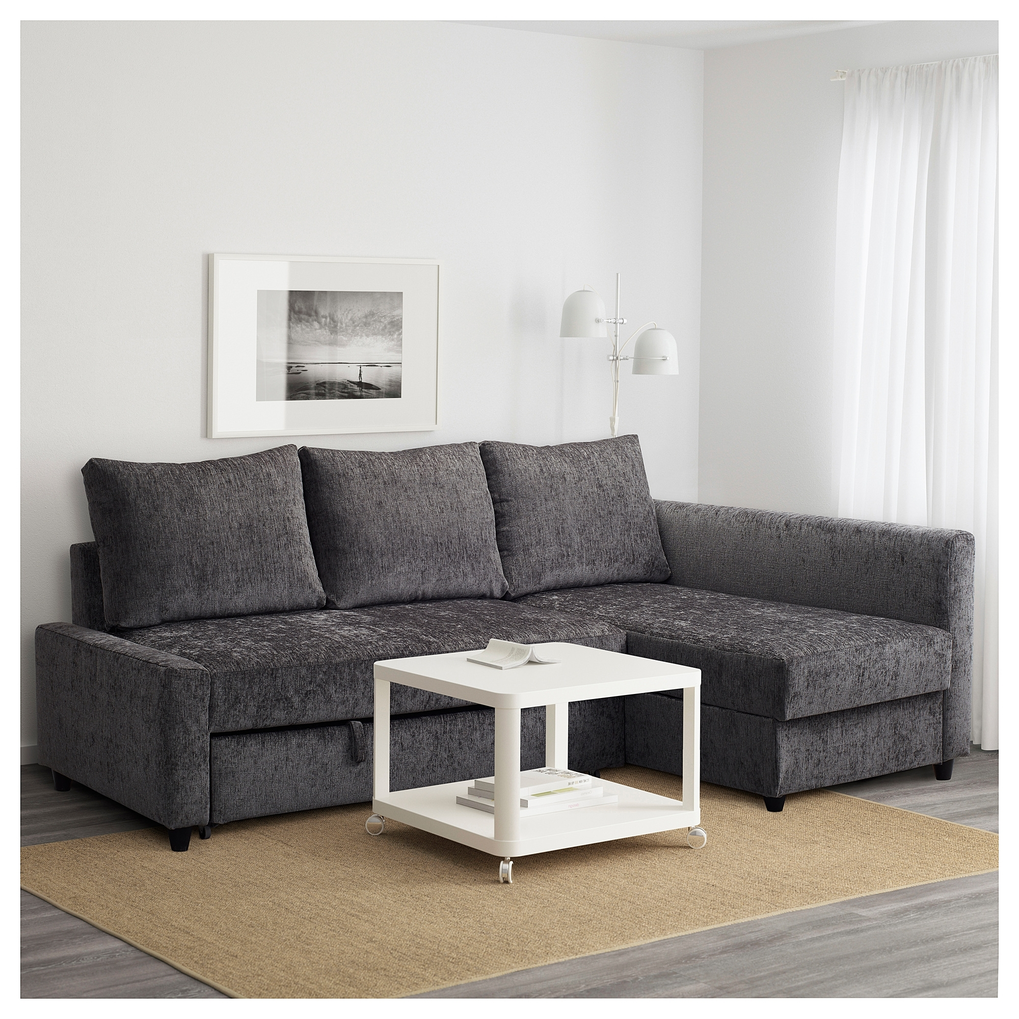 Famous Ikea Corner Sofas With Storage For Friheten Corner Sofa Bed With Storage Dark Grey – Ikea (View 2 of 15)