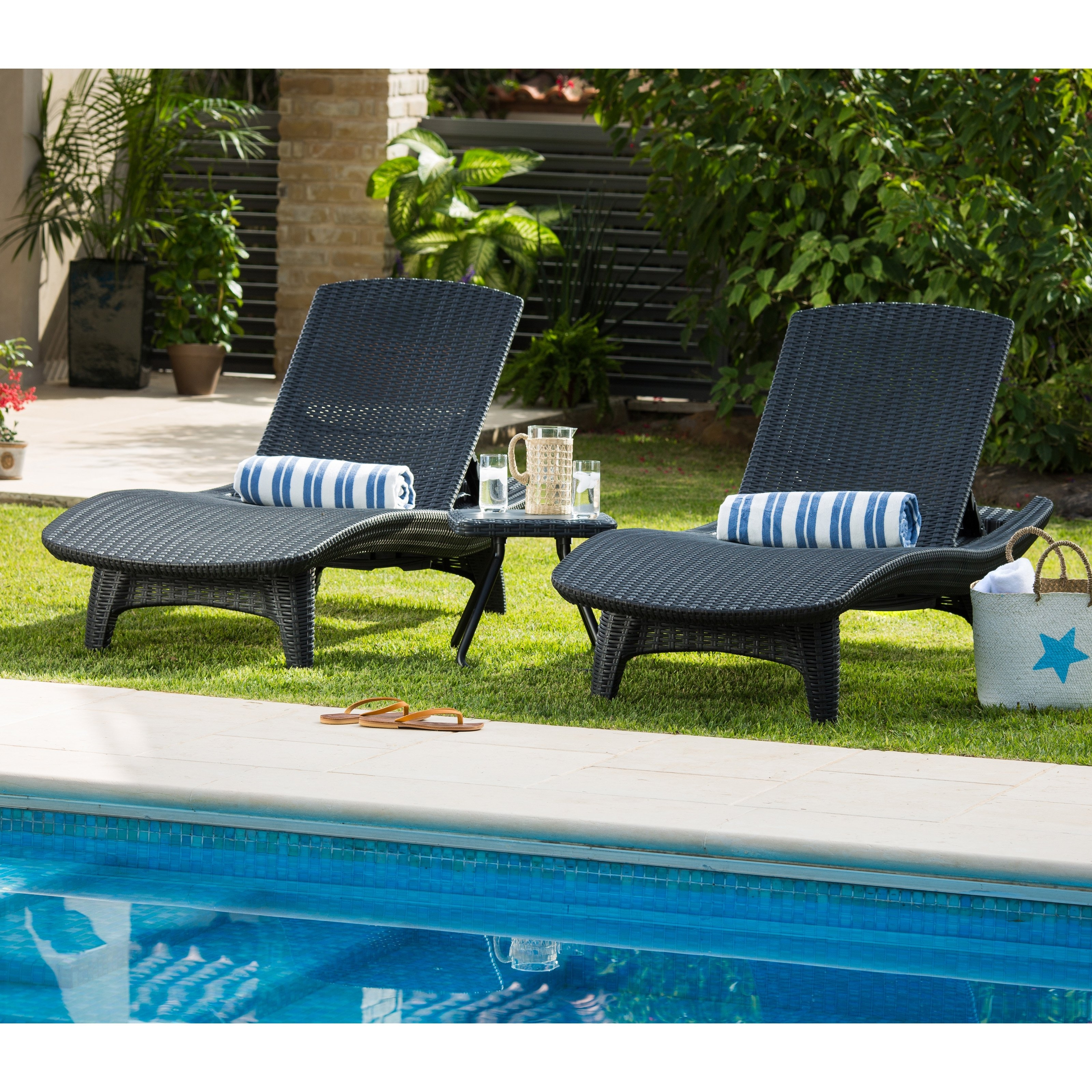 Famous Keter Outdoor Chaise Lounge – Set Of  (View 10 of 15)