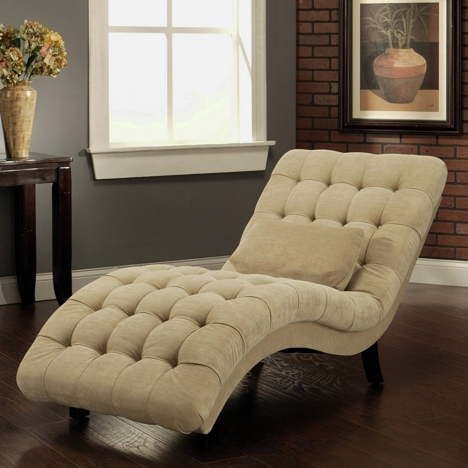 Famous Large Chaise Lounges Pertaining To Home Designs : Chaise Lounge Chairs For Living Room White Fabric (View 4 of 15)