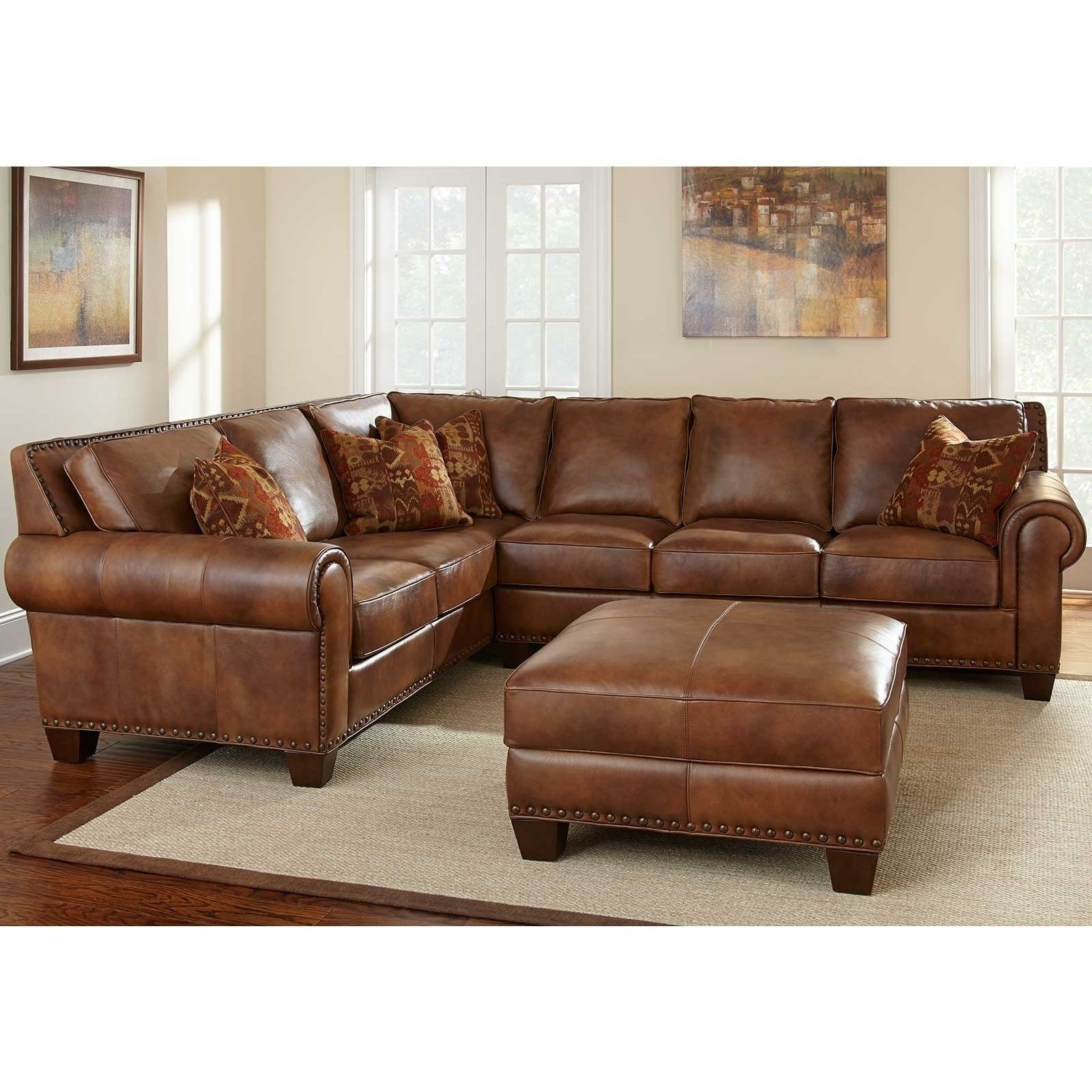 Famous Macys Leather Sectional Sofas Intended For White Leather Sectional Sofa Macy's • Leather Sofa (View 12 of 15)